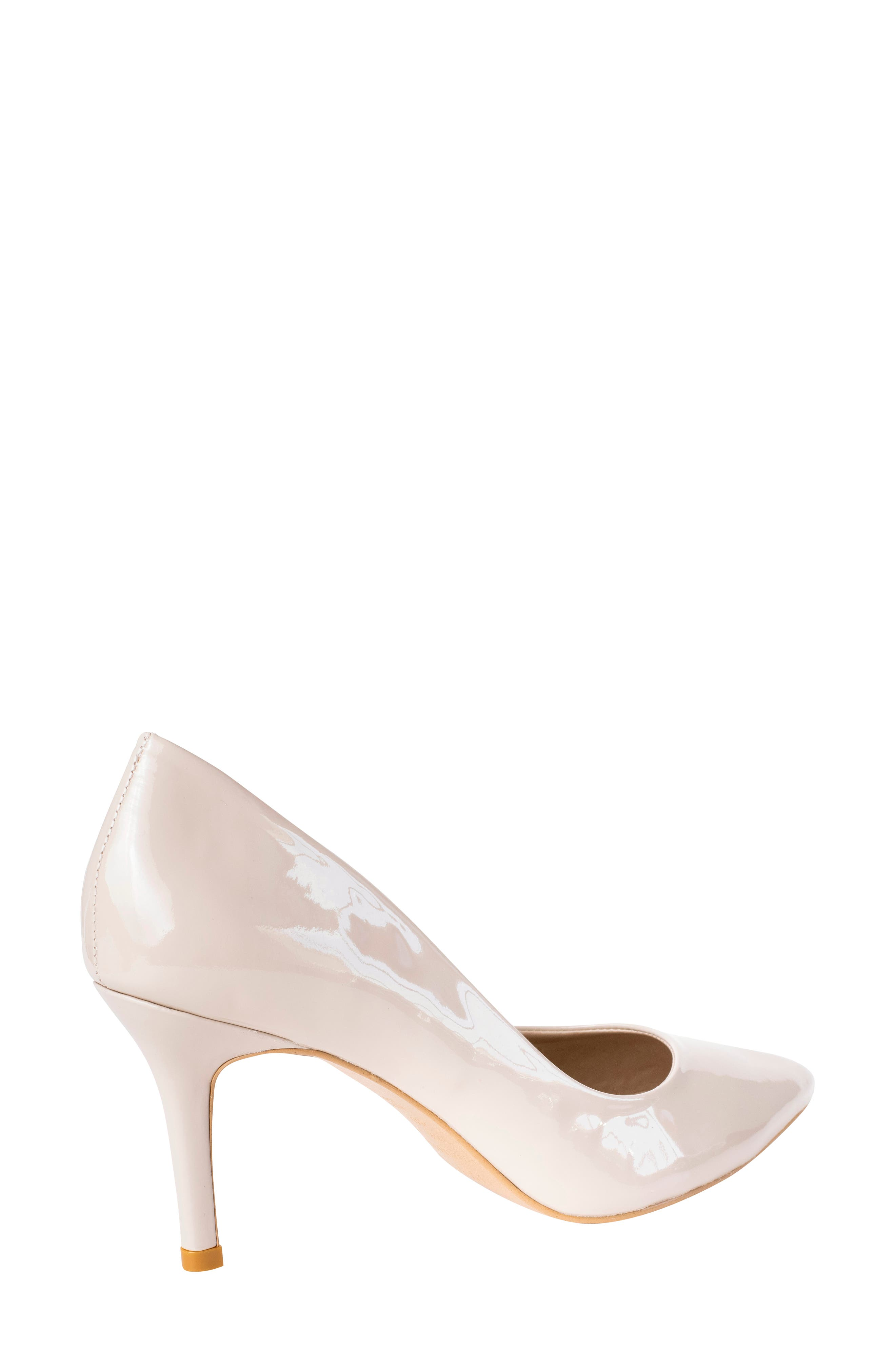 Anya Pointy Toe Pump,                             Alternate thumbnail 2, color,                             NUDE PATENT LEATHER