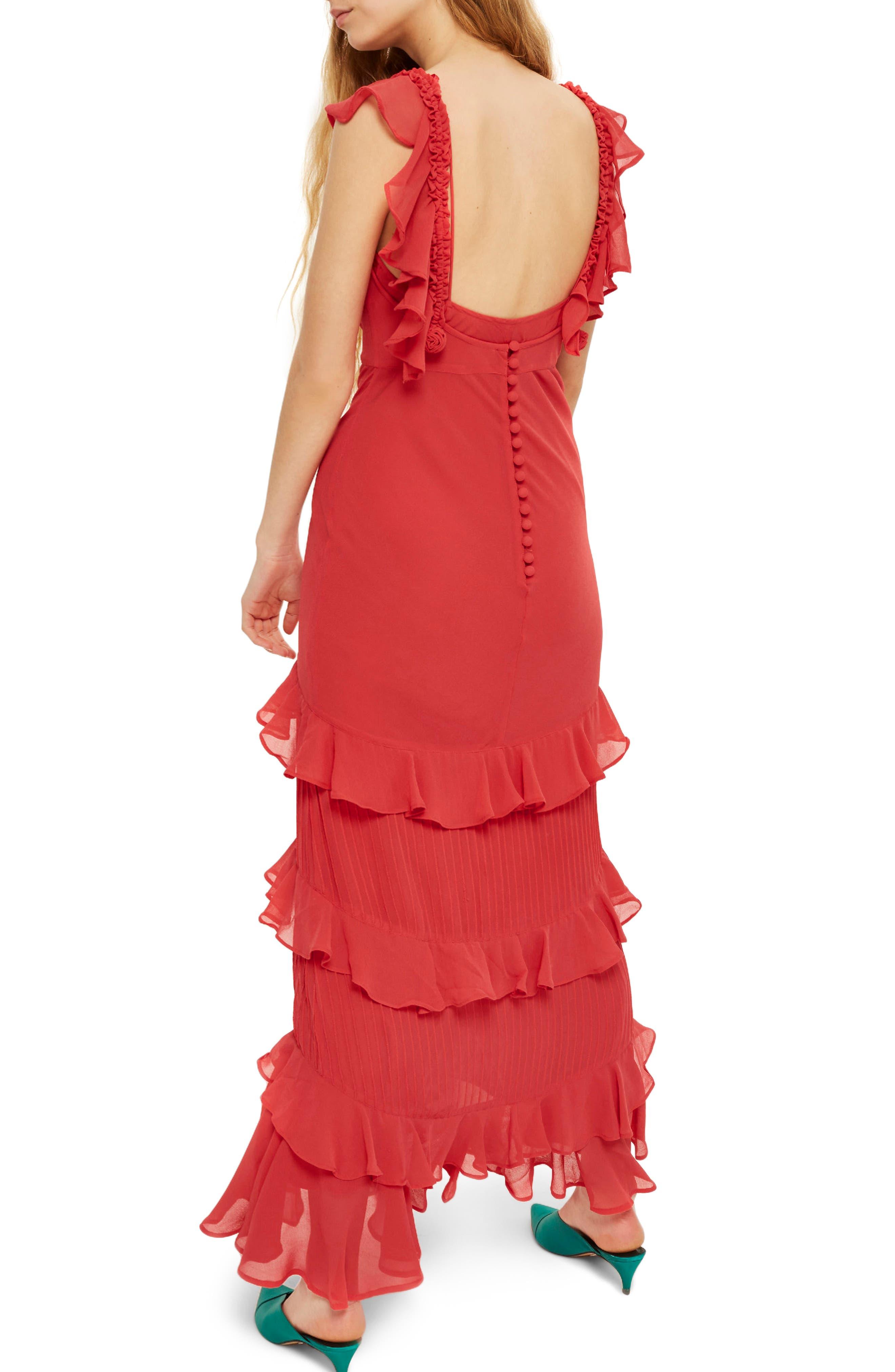 Ruffle Maxi Dress,                             Alternate thumbnail 2, color,                             600