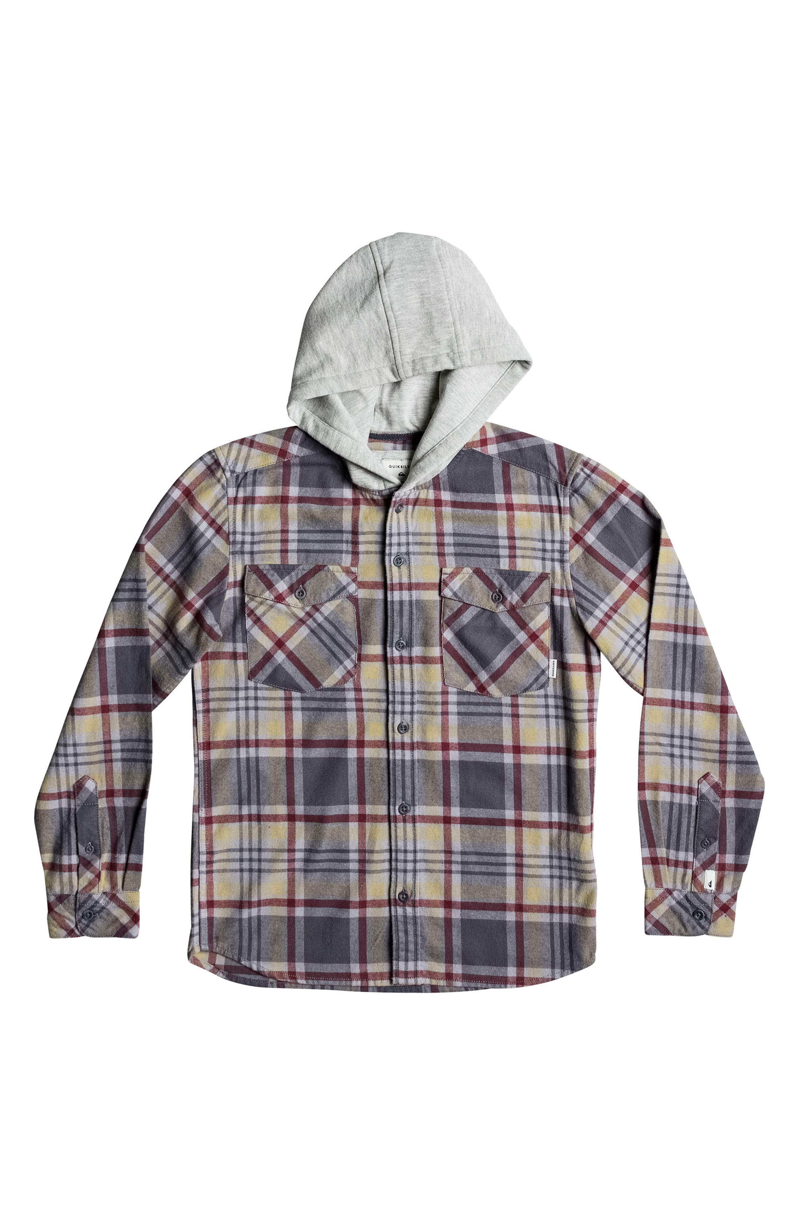 Hooded Tang Plaid Flannel Shirt,                             Main thumbnail 1, color,                             267