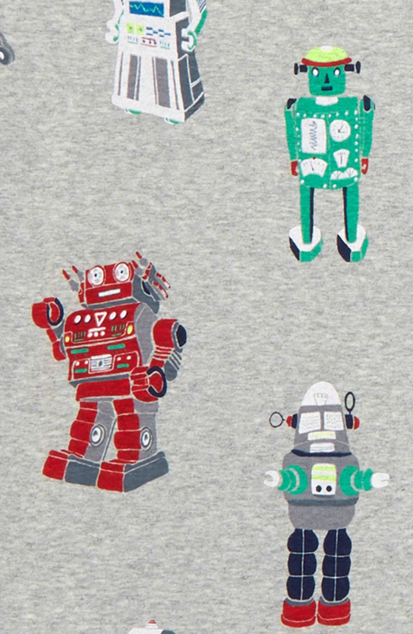 Cosy 2-Pack Fitted Two-Piece Pajamas,                             Alternate thumbnail 2, color,                             MLT GREY MARL RETRO ROBOTS