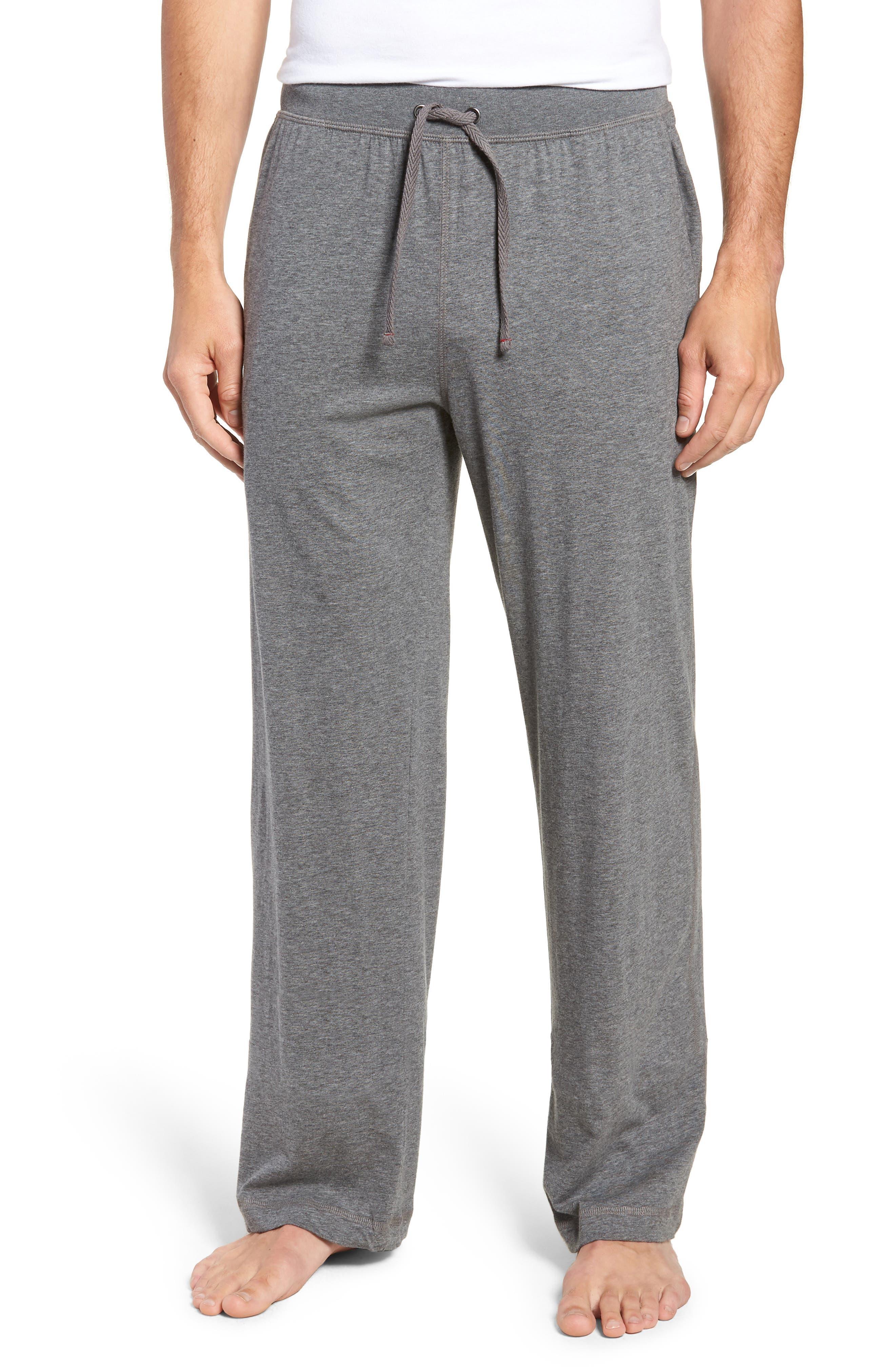 Peruvian Pima Lightweight Cotton Lounge Pants,                             Main thumbnail 1, color,                             CHARCOAL HEATHER