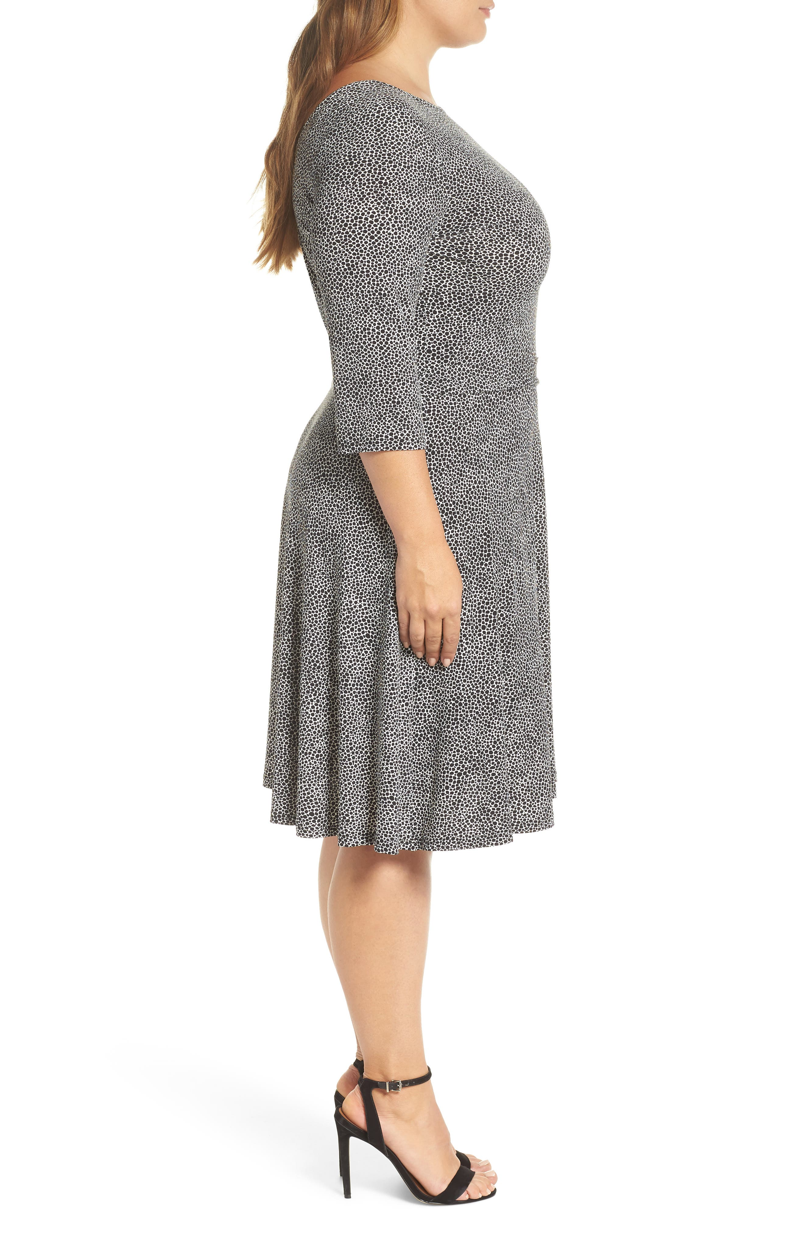 Llana Stretch Jersey Dress,                             Alternate thumbnail 3, color,                             PEBBLE