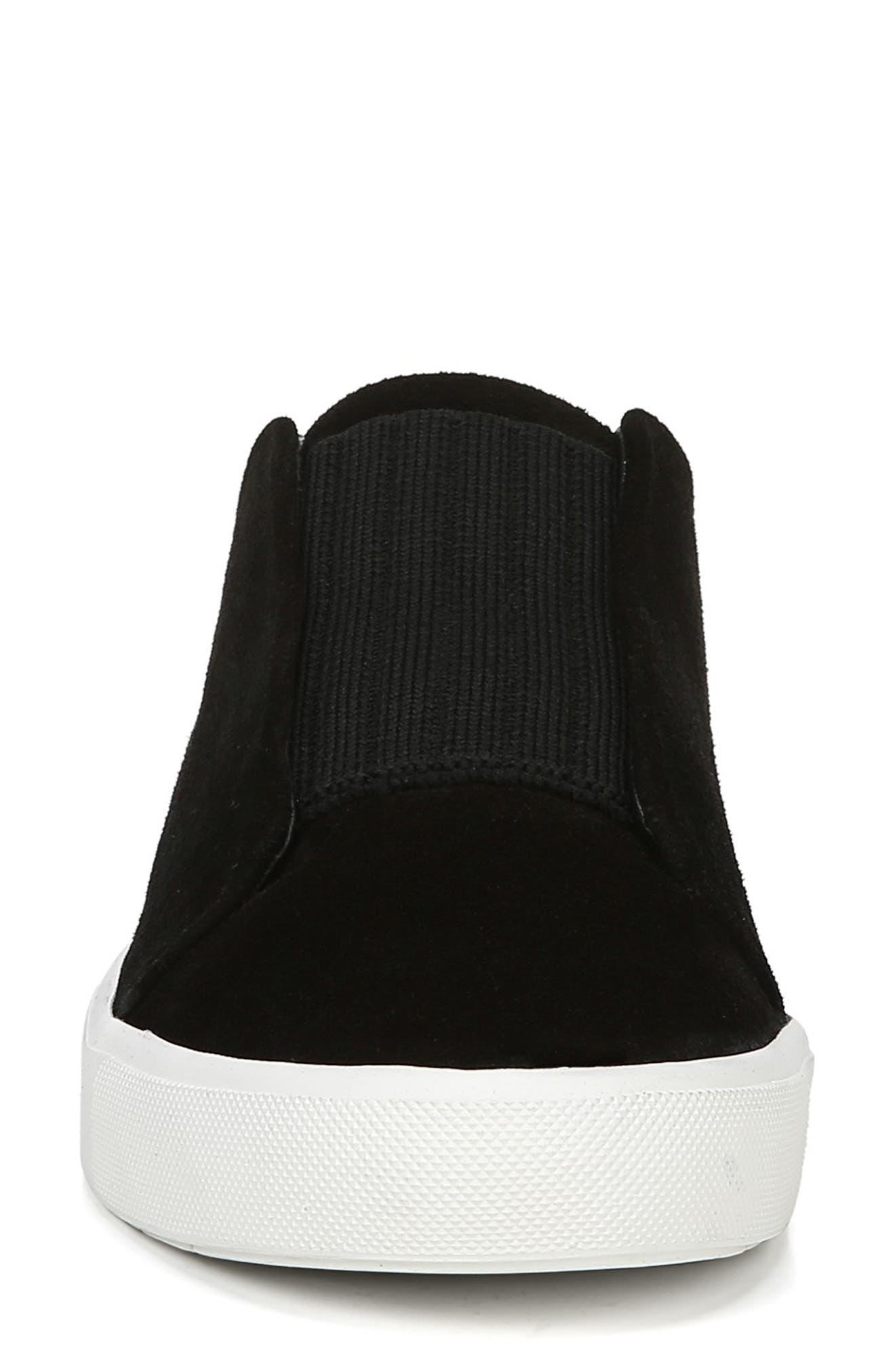 Cantara Slip-On Sneaker,                             Alternate thumbnail 4, color,                             BLACK SUEDE