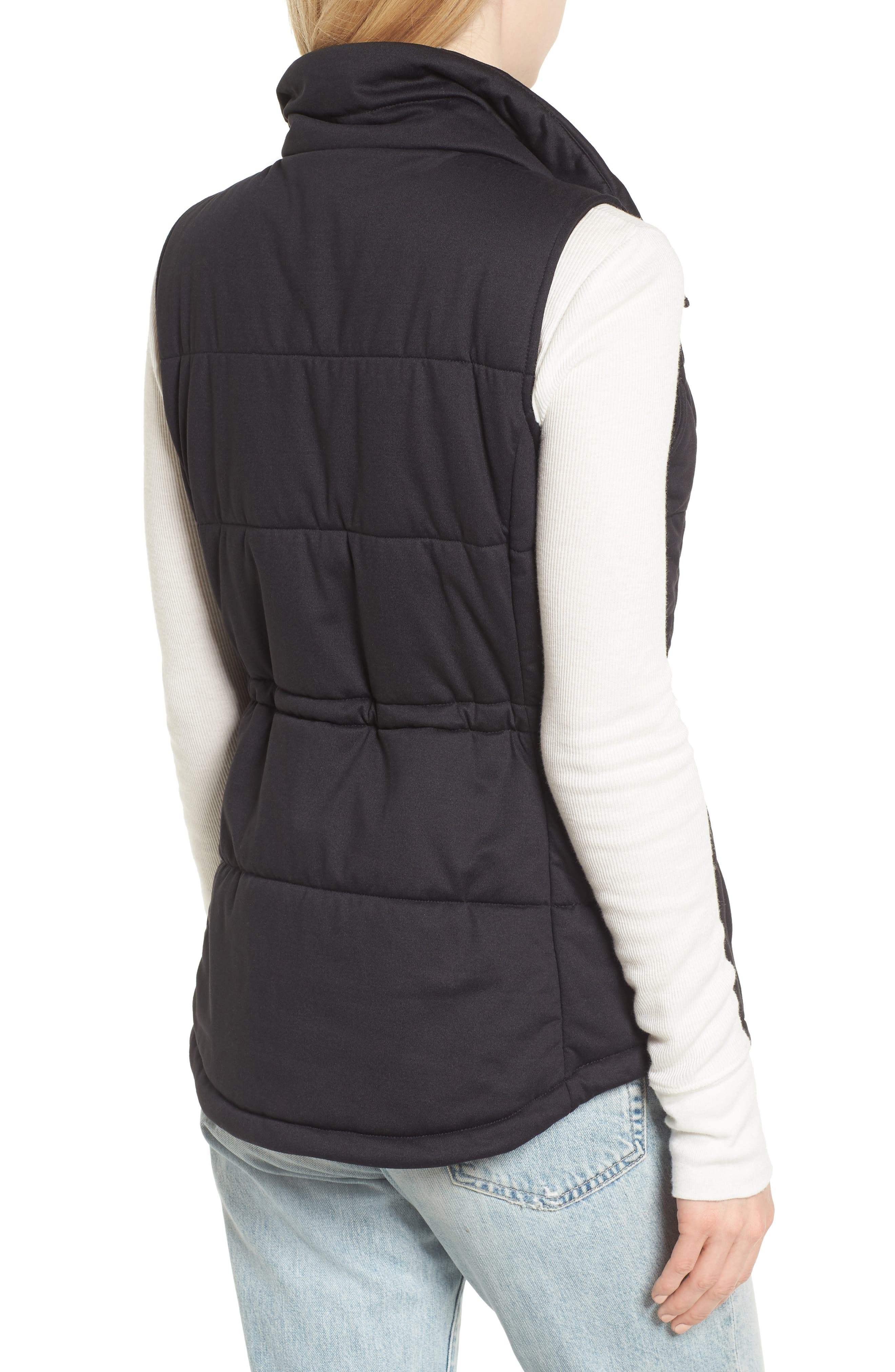 'Pseudio' Quilted Vest,                             Alternate thumbnail 2, color,                             003