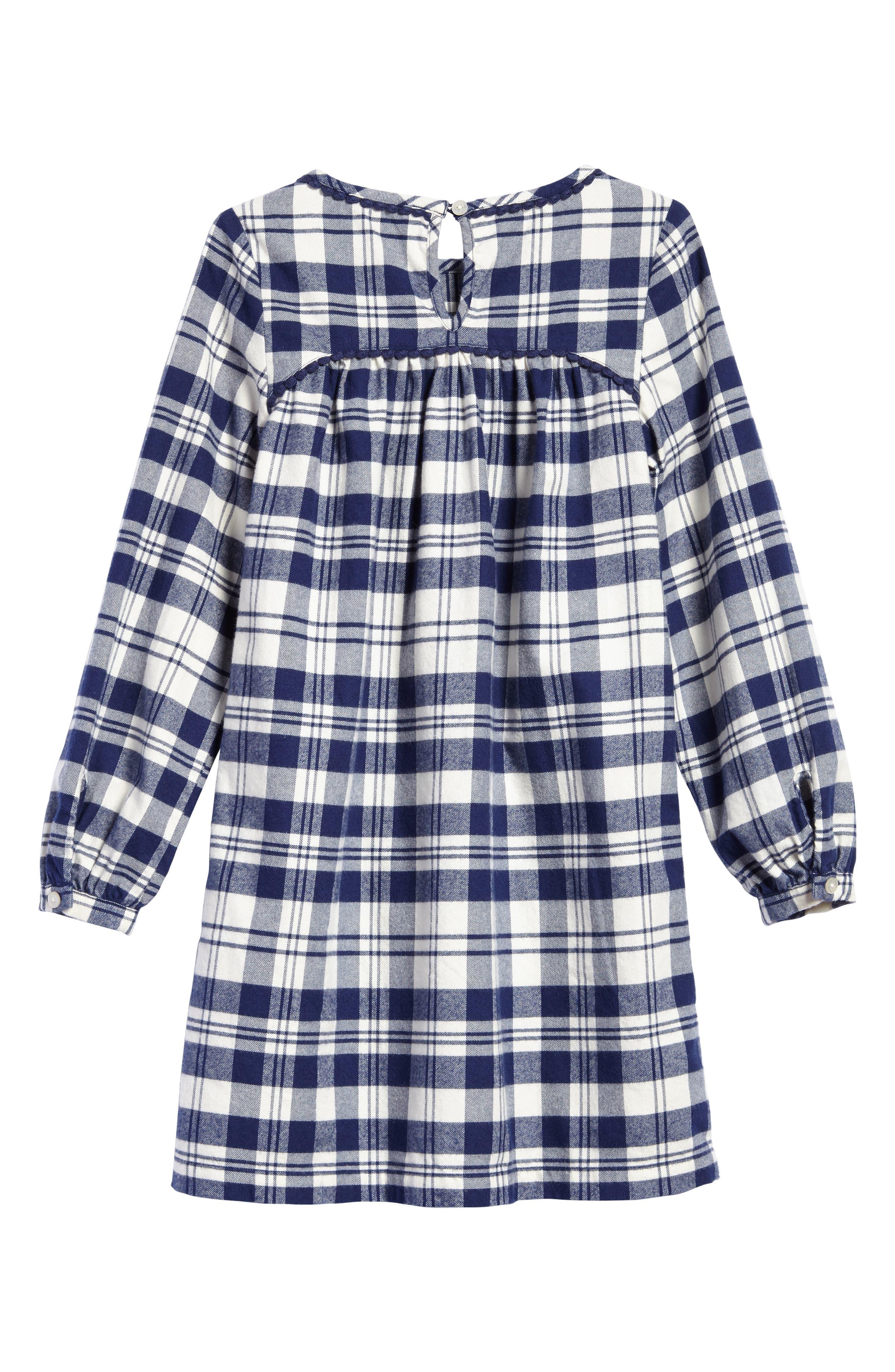 Soirée Plaid Flannel Dress,                             Alternate thumbnail 2, color,