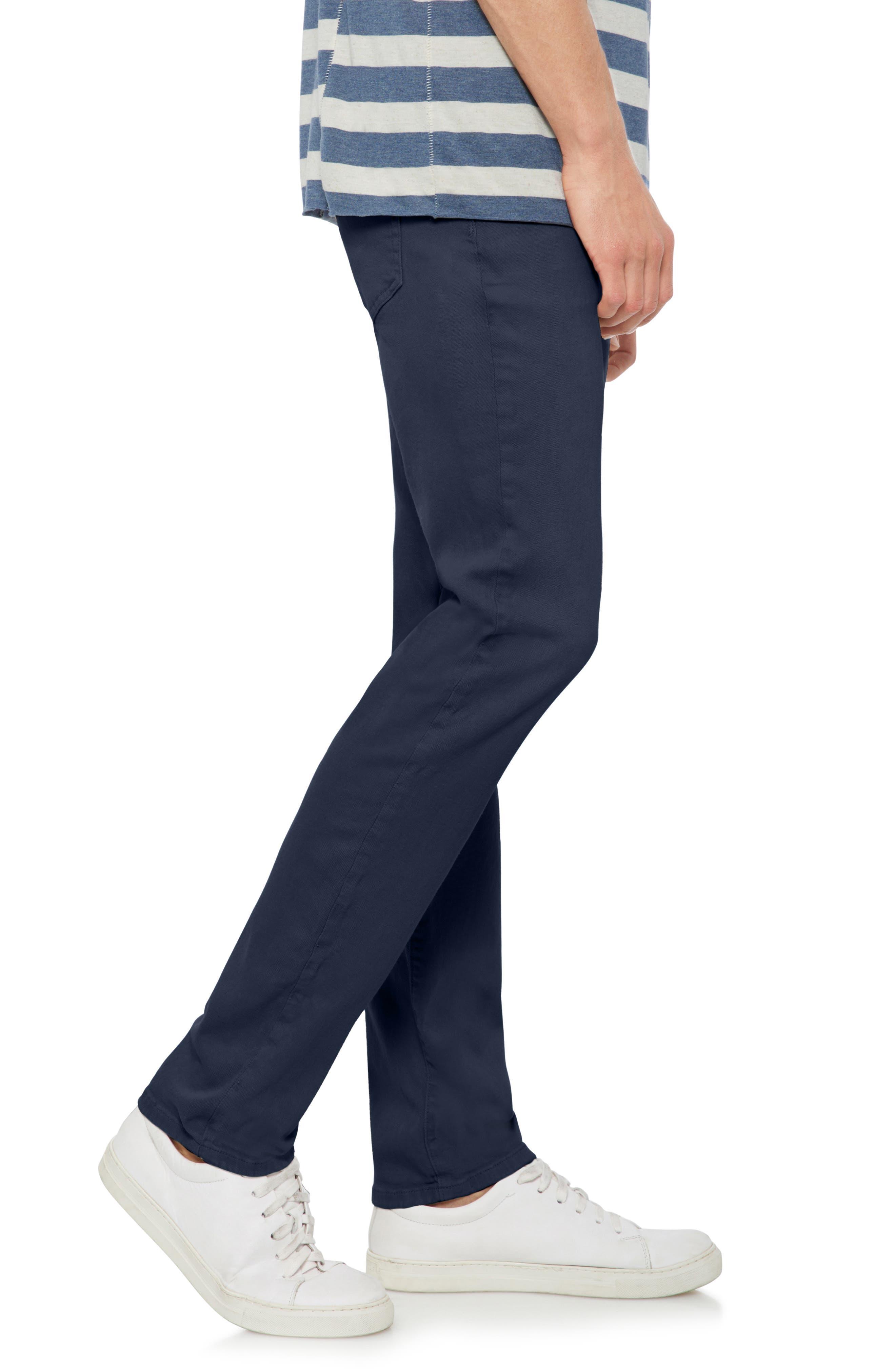 Brixton Slim Straight Fit Pants,                             Alternate thumbnail 3, color,                             NAVY