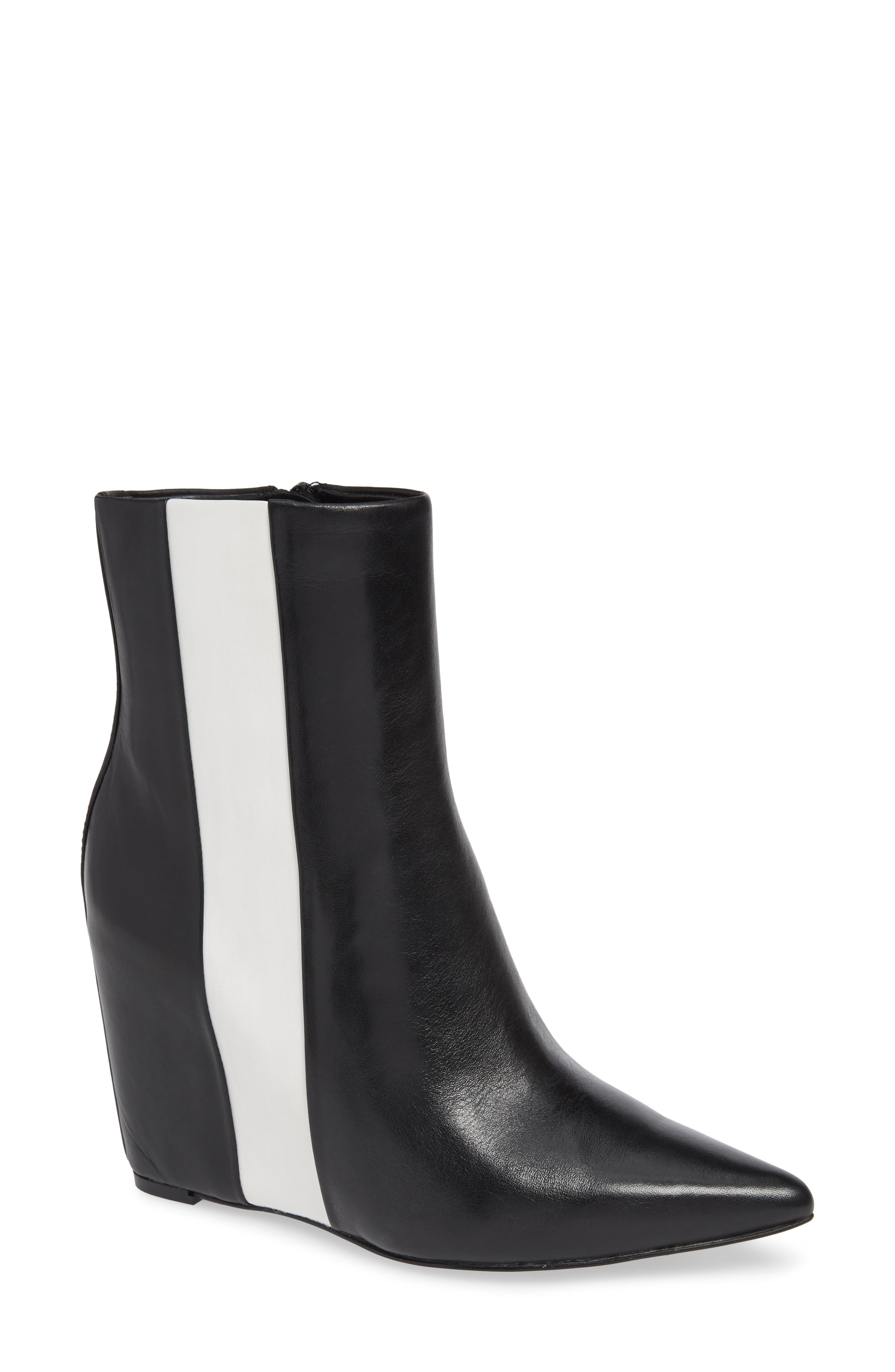 Calvin Klein Yvania Stripe Wedge Bootie- Black