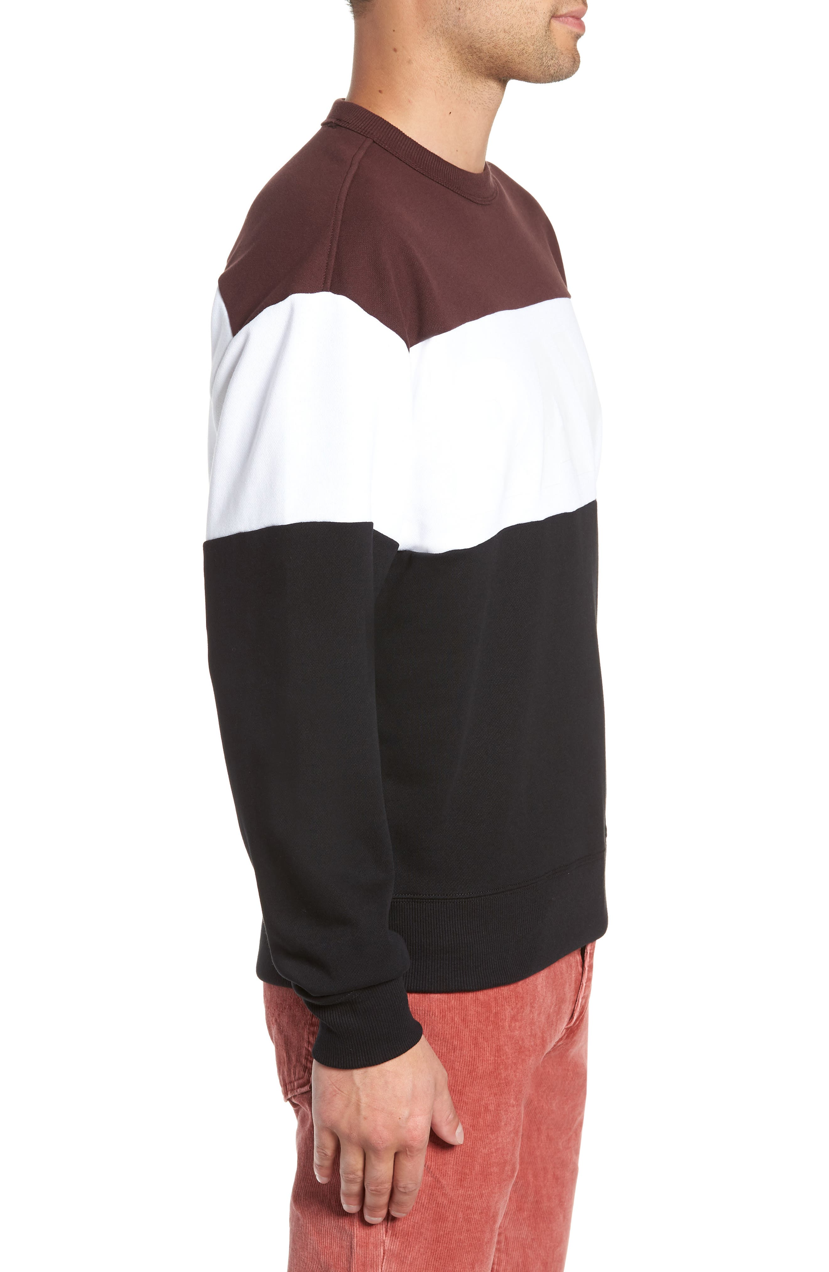 Libe Core Colorblock Sweatshirt,                             Alternate thumbnail 3, color,                             001