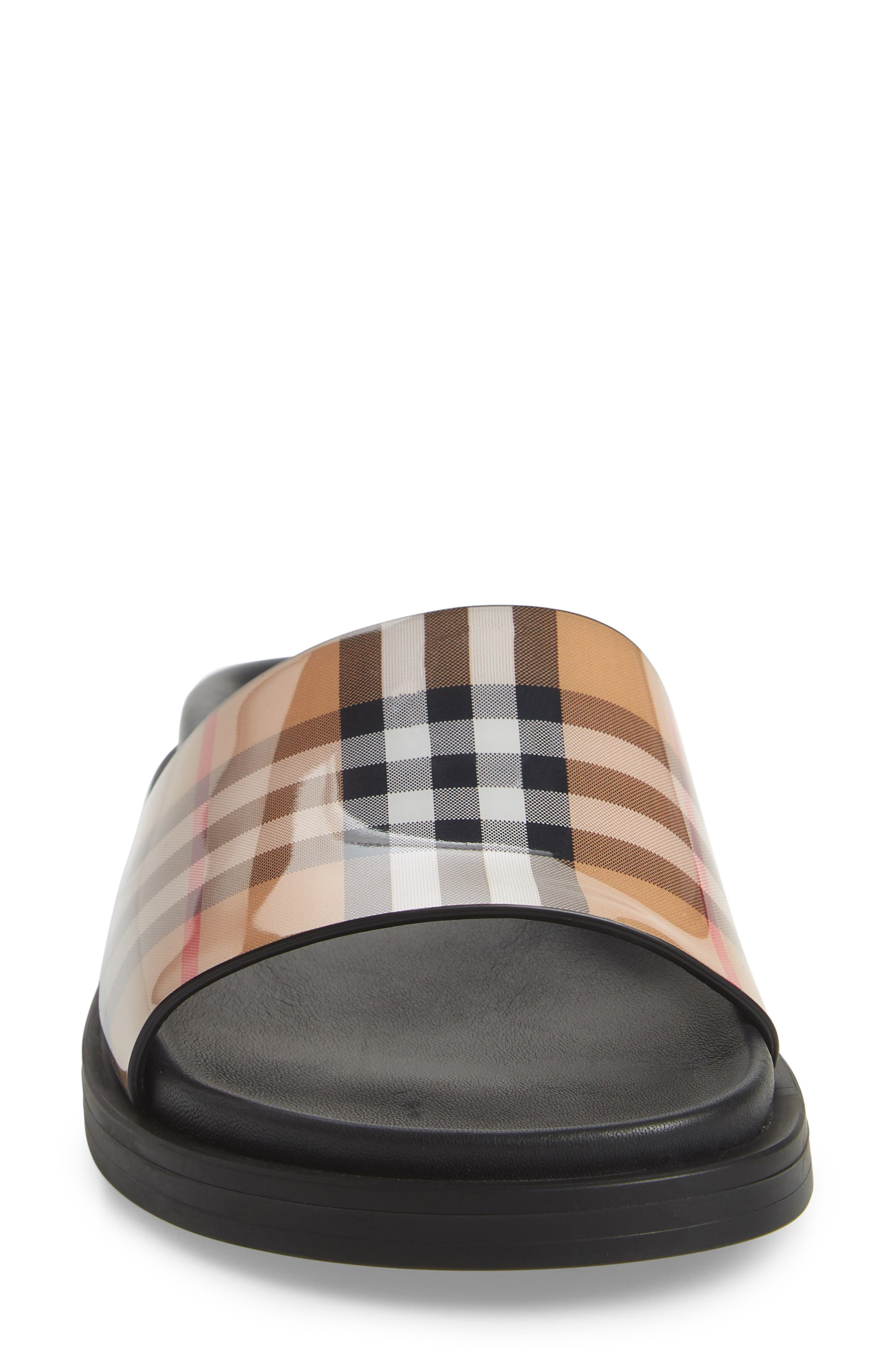 BURBERRY,                             Vintage Check Slide Sandal,                             Alternate thumbnail 5, color,                             250