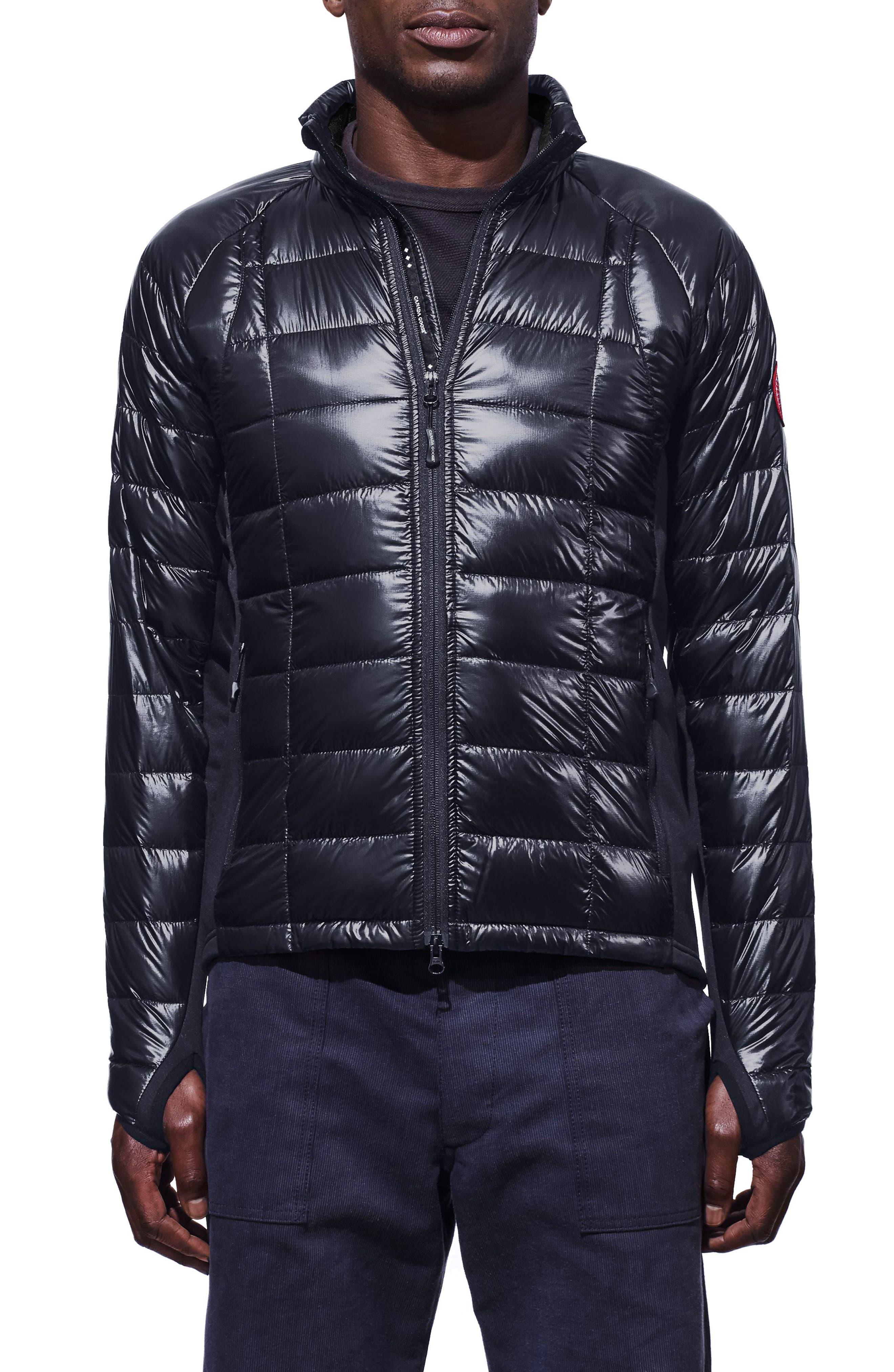 'Hybridge<sup>™</sup> Lite' Slim Fit Packable Jacket,                             Main thumbnail 1, color,                             ADMIRAL BLUE/ BLACK