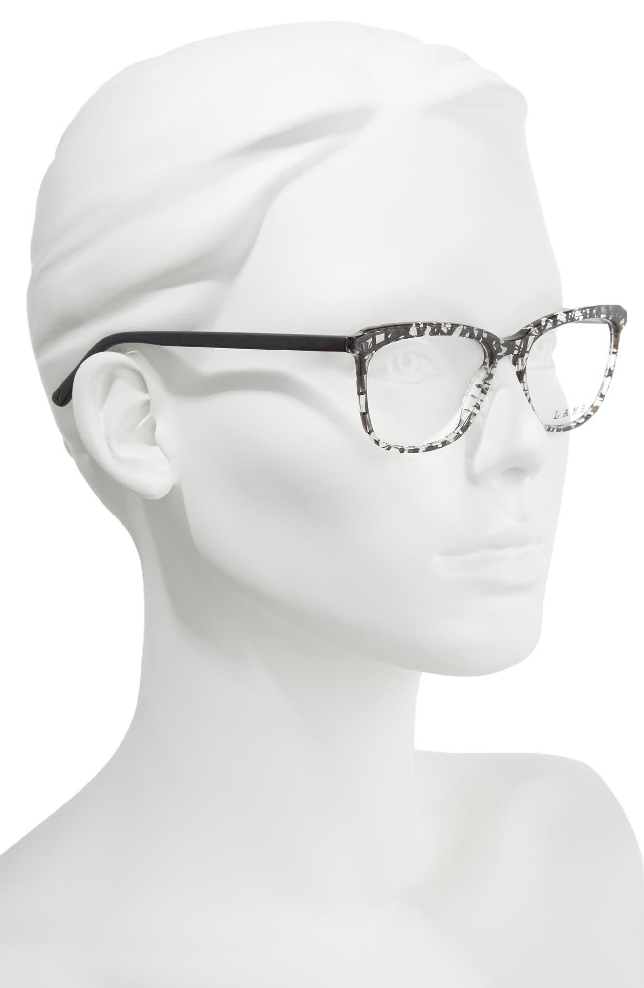 51mm Optical Square Glasses,                             Alternate thumbnail 4, color,