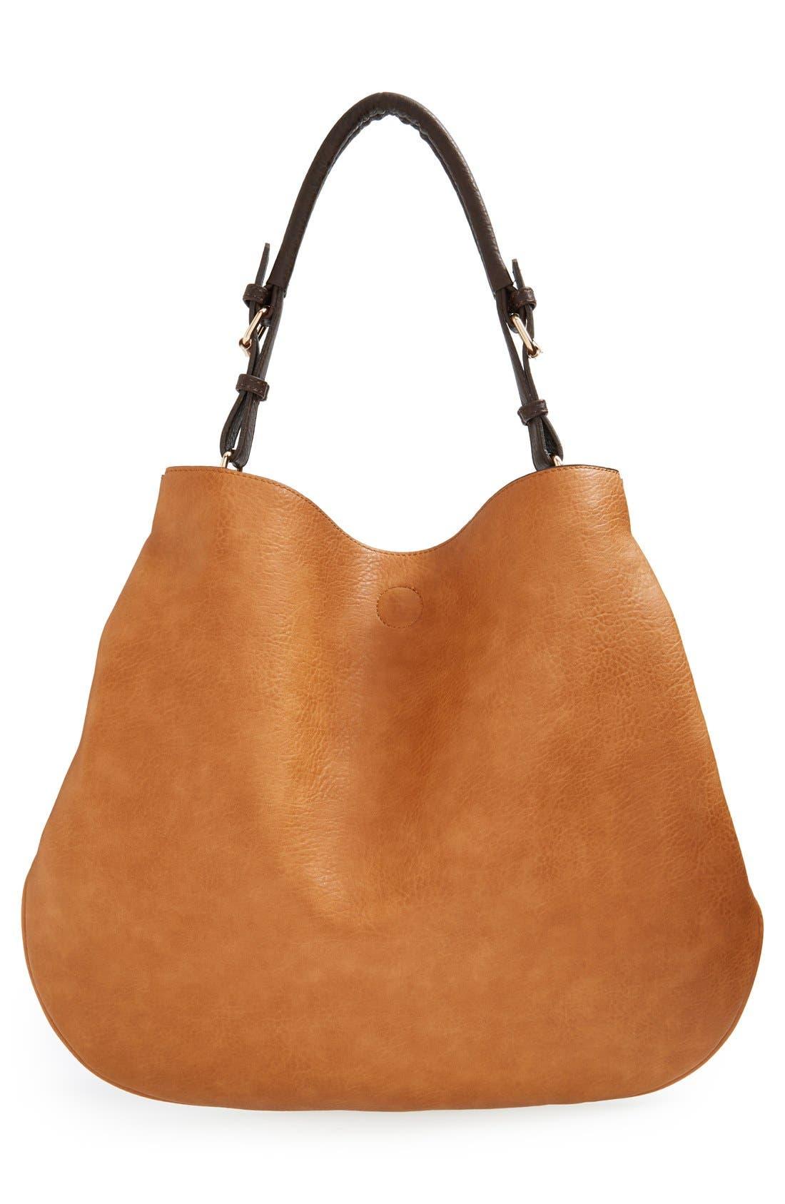 'Capri' Faux Leather Tote,                             Alternate thumbnail 5, color,                             200