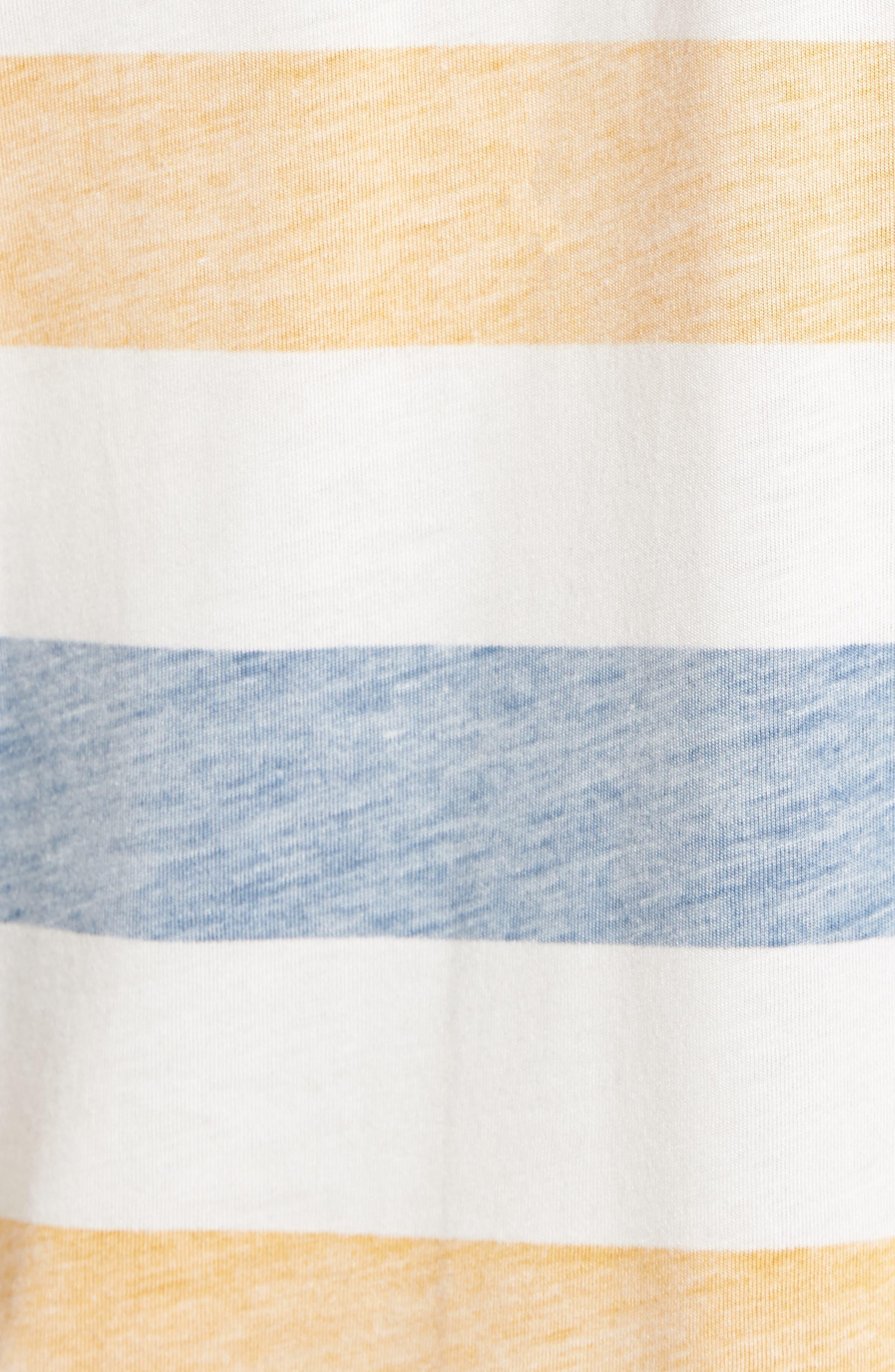 Reverse Stripe Pima Cotton & Modal V-Neck T-Shirt,                             Alternate thumbnail 5, color,                             106