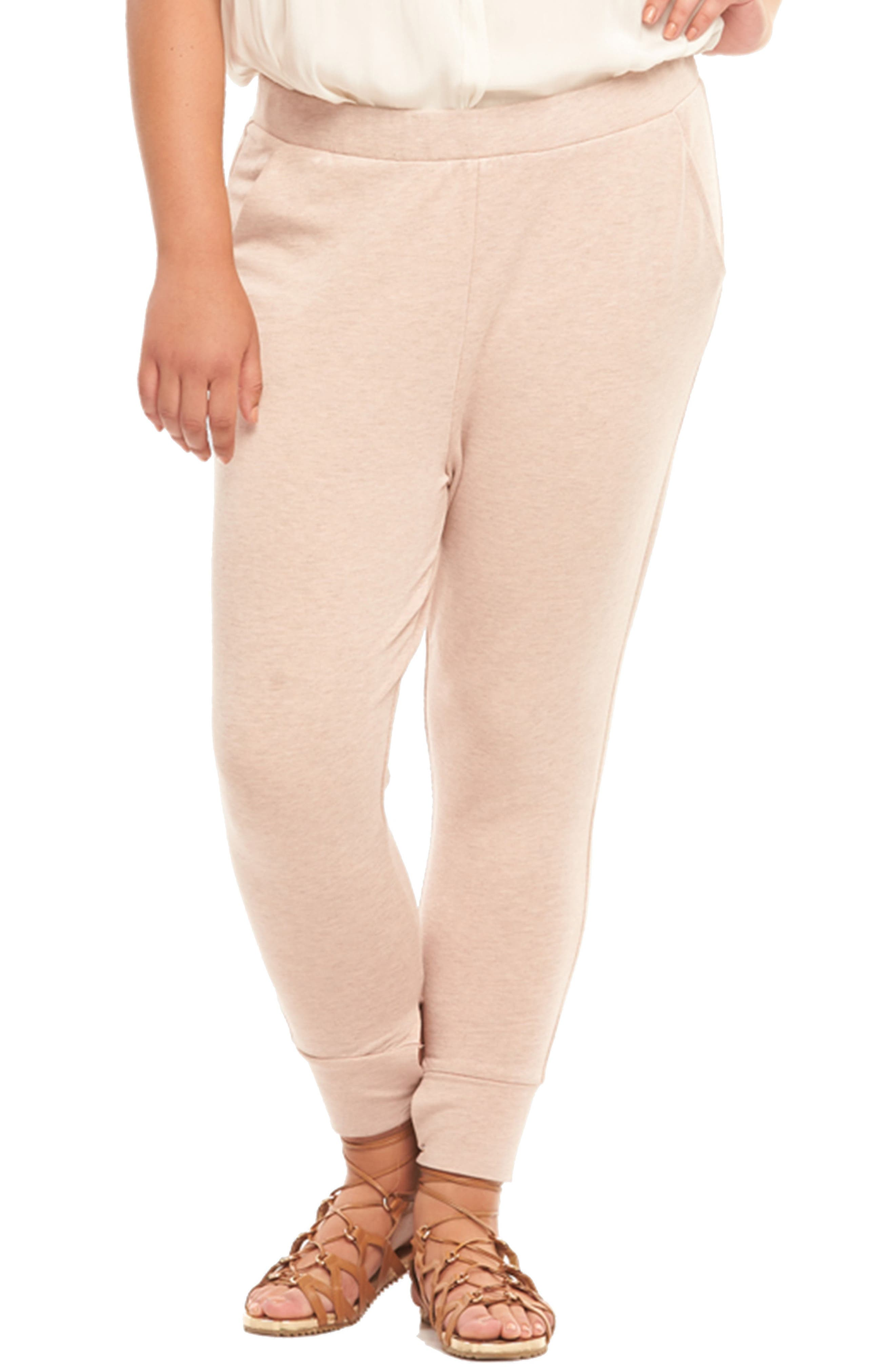 Zadie Jogger Pants,                         Main,                         color, BLUSH WITH ROSE