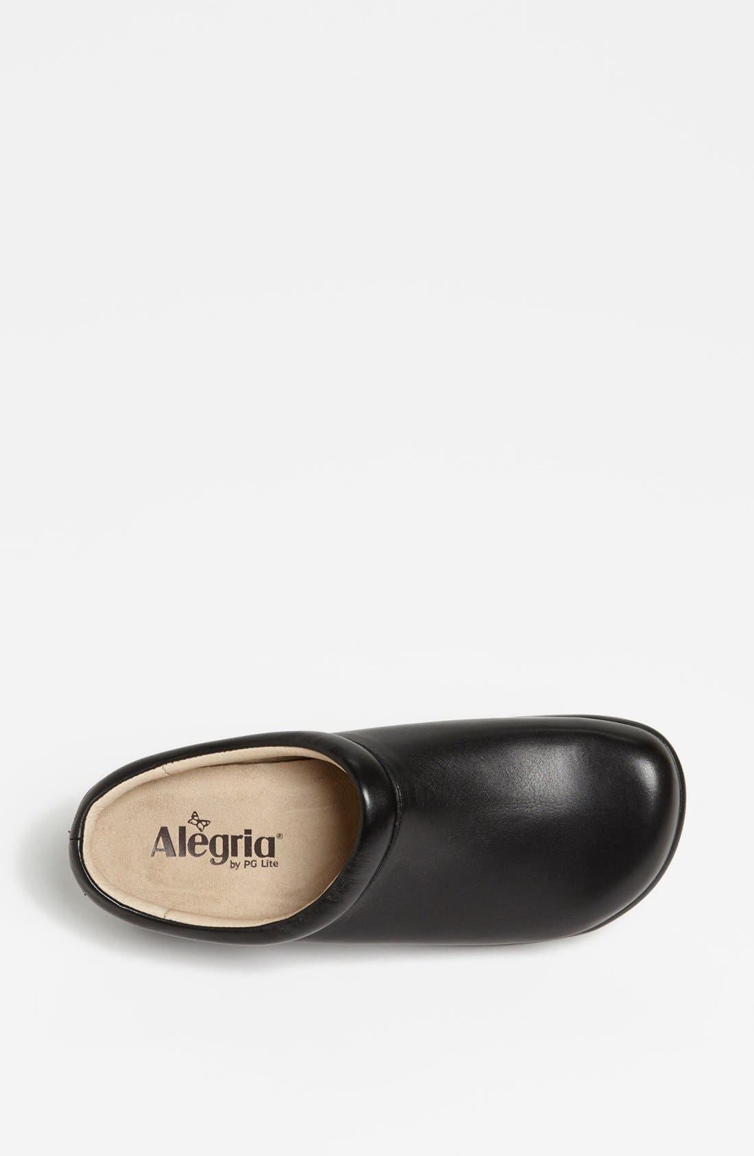 ALEGRIA,                             'Kayla' Clog,                             Alternate thumbnail 3, color,                             BLACK NAPPA LEATHER