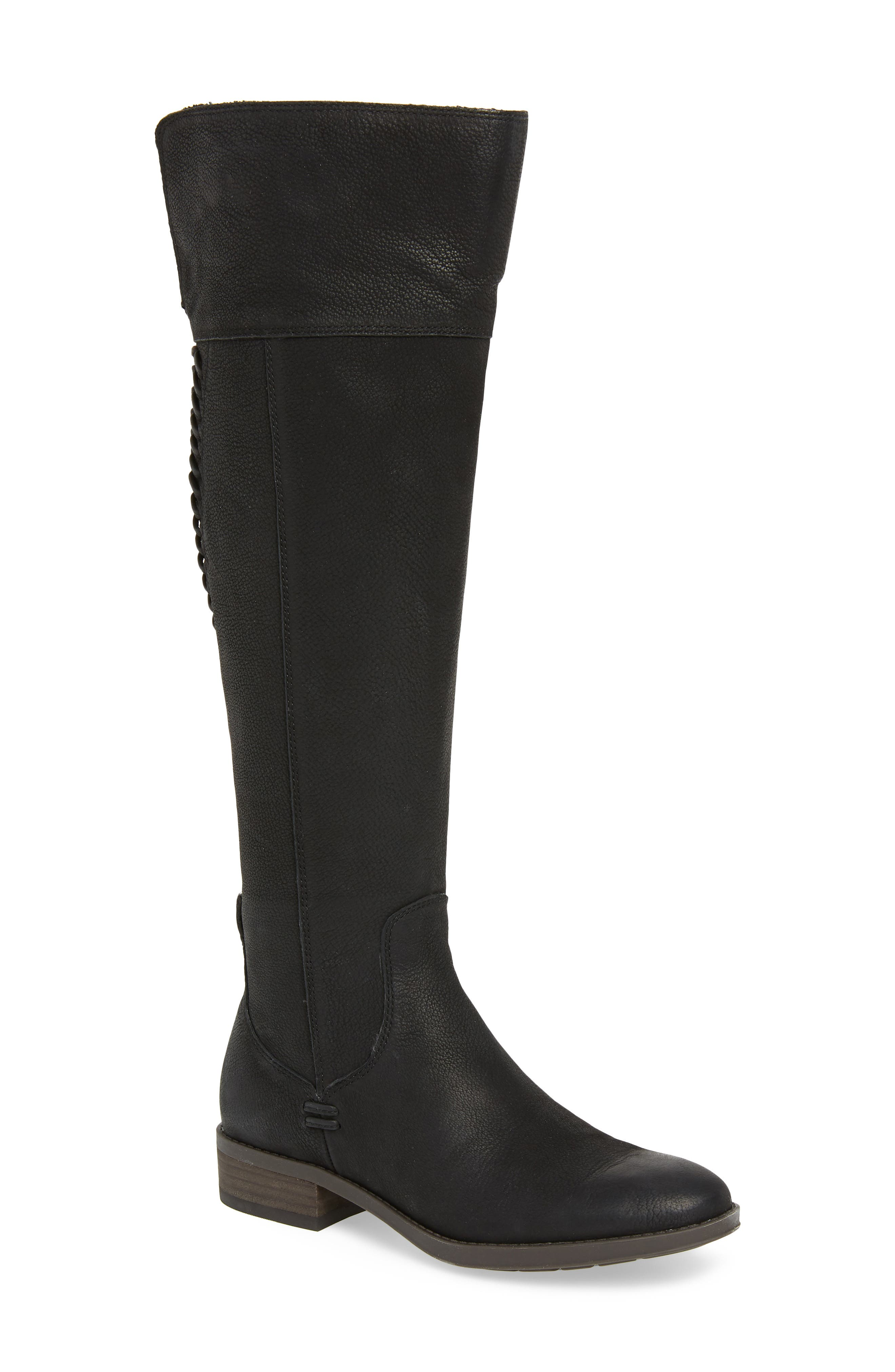 Patamina Boot,                         Main,                         color, BLACK LEATHER
