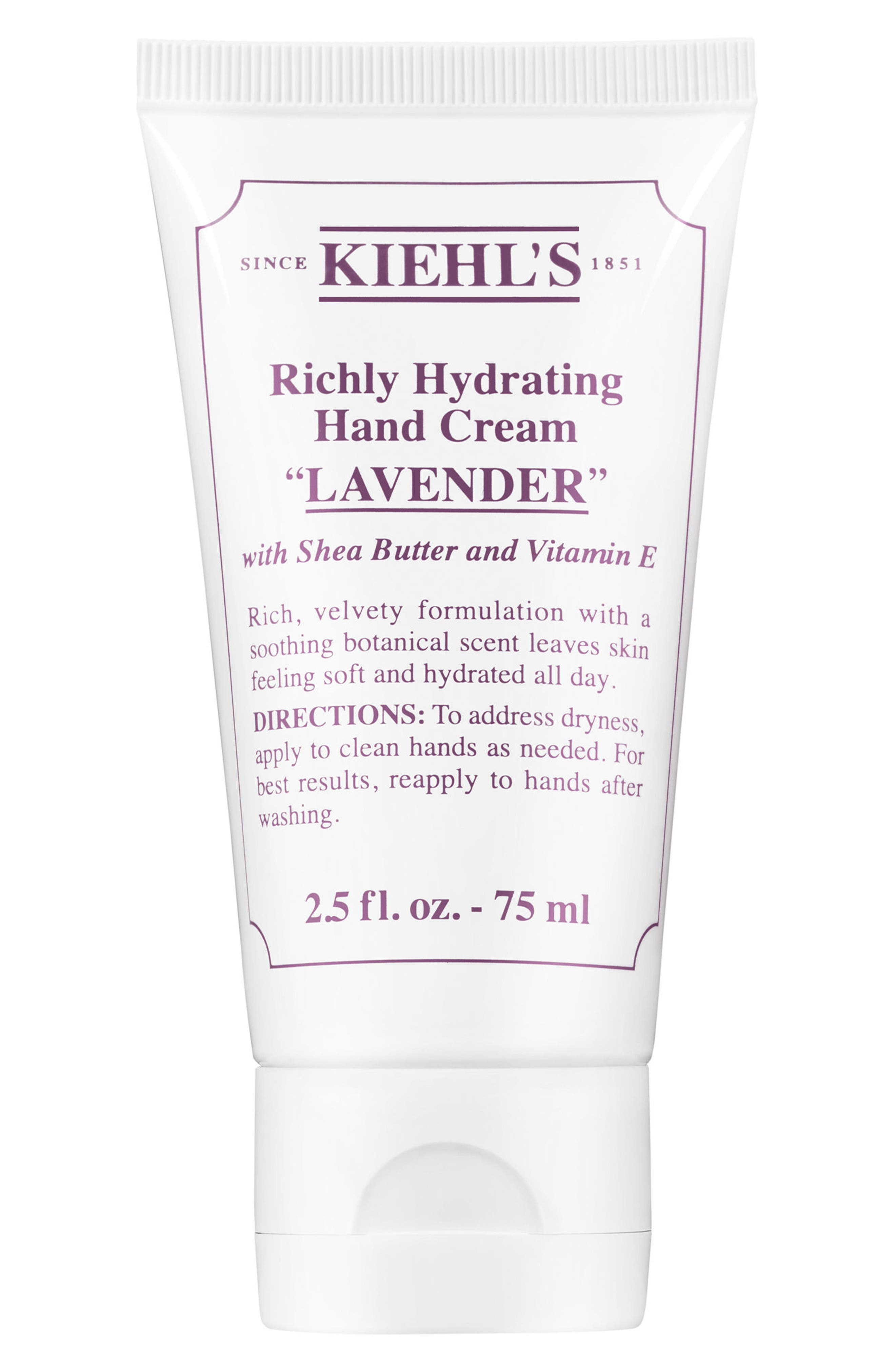 Lavender Richly Hydrating Scented Hand Cream,                             Main thumbnail 1, color,                             NO COLOR