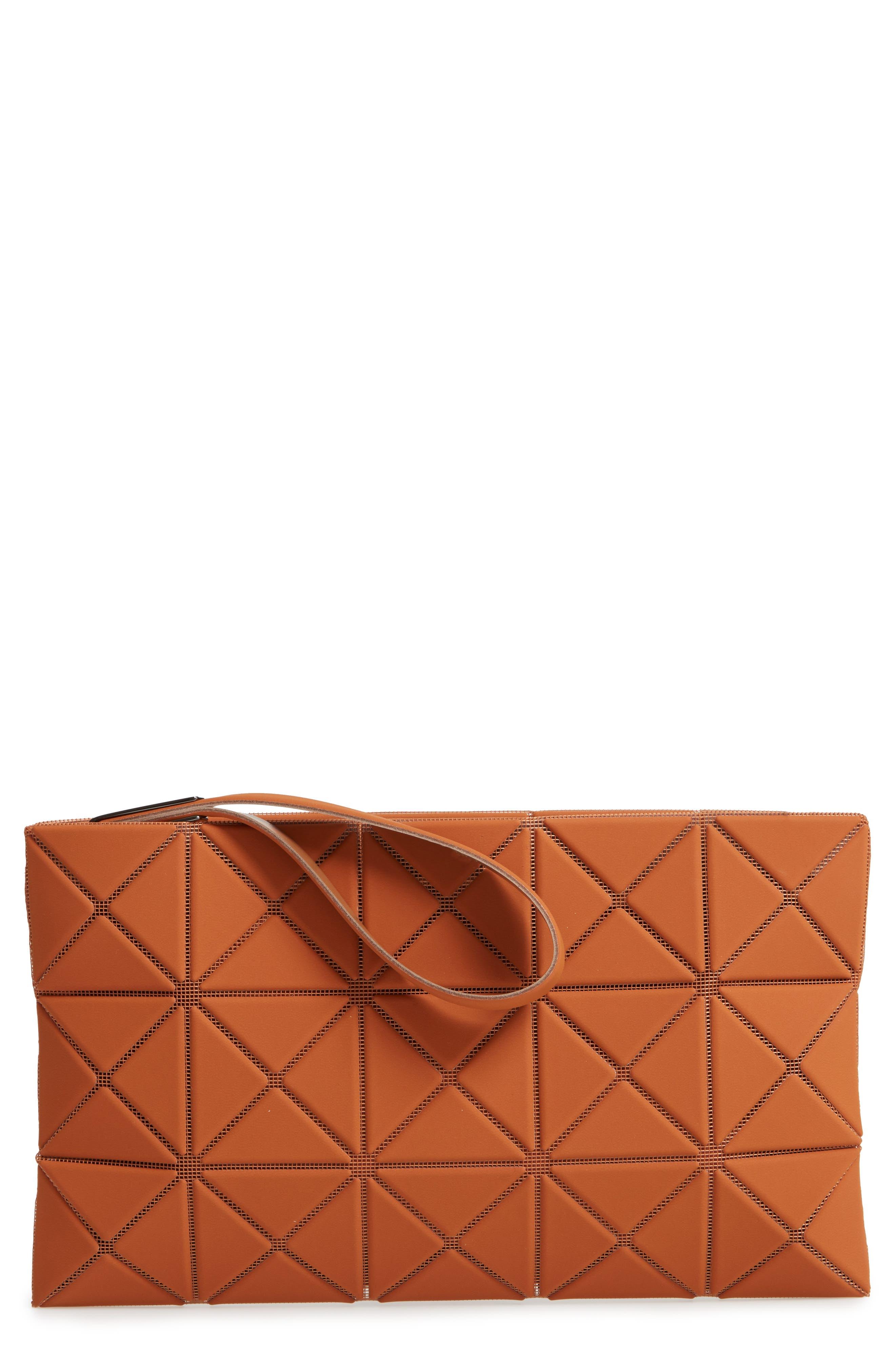 Lucent Faux Leather Wristlet,                         Main,                         color, CAMEL