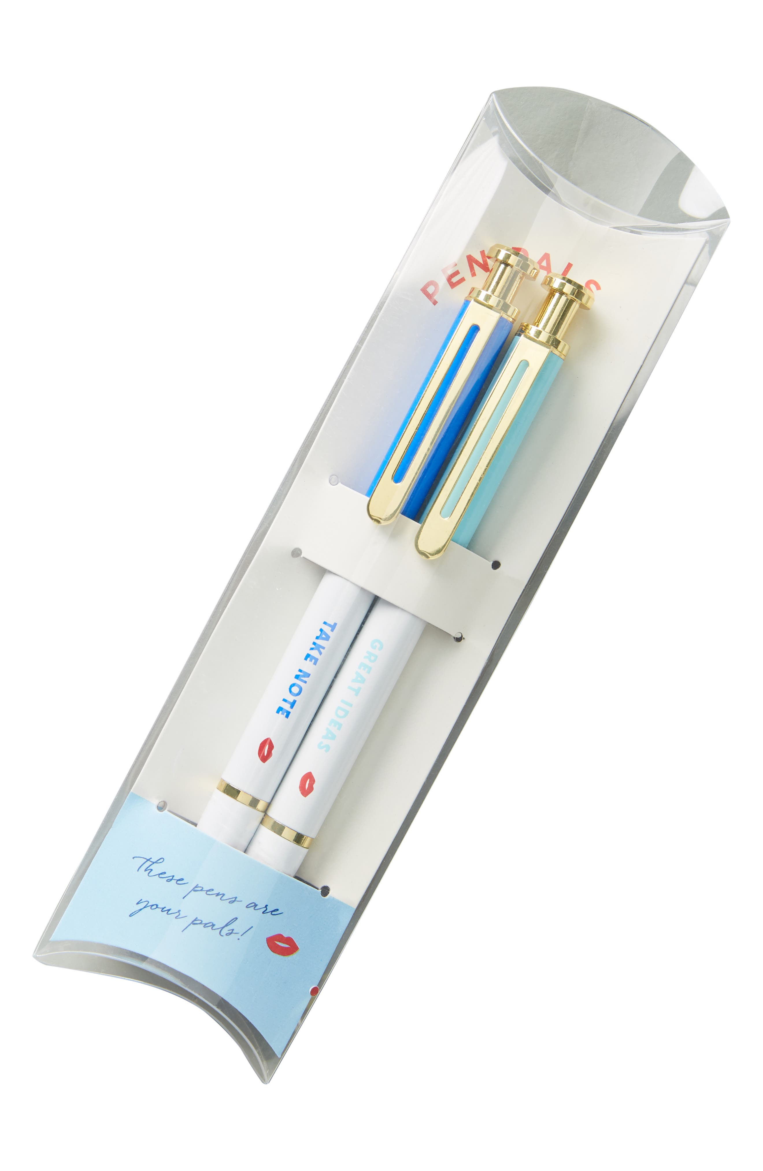 ANTHROPOLOGIE,                             Bisou Set of 2 Pens,                             Alternate thumbnail 3, color,                             RED