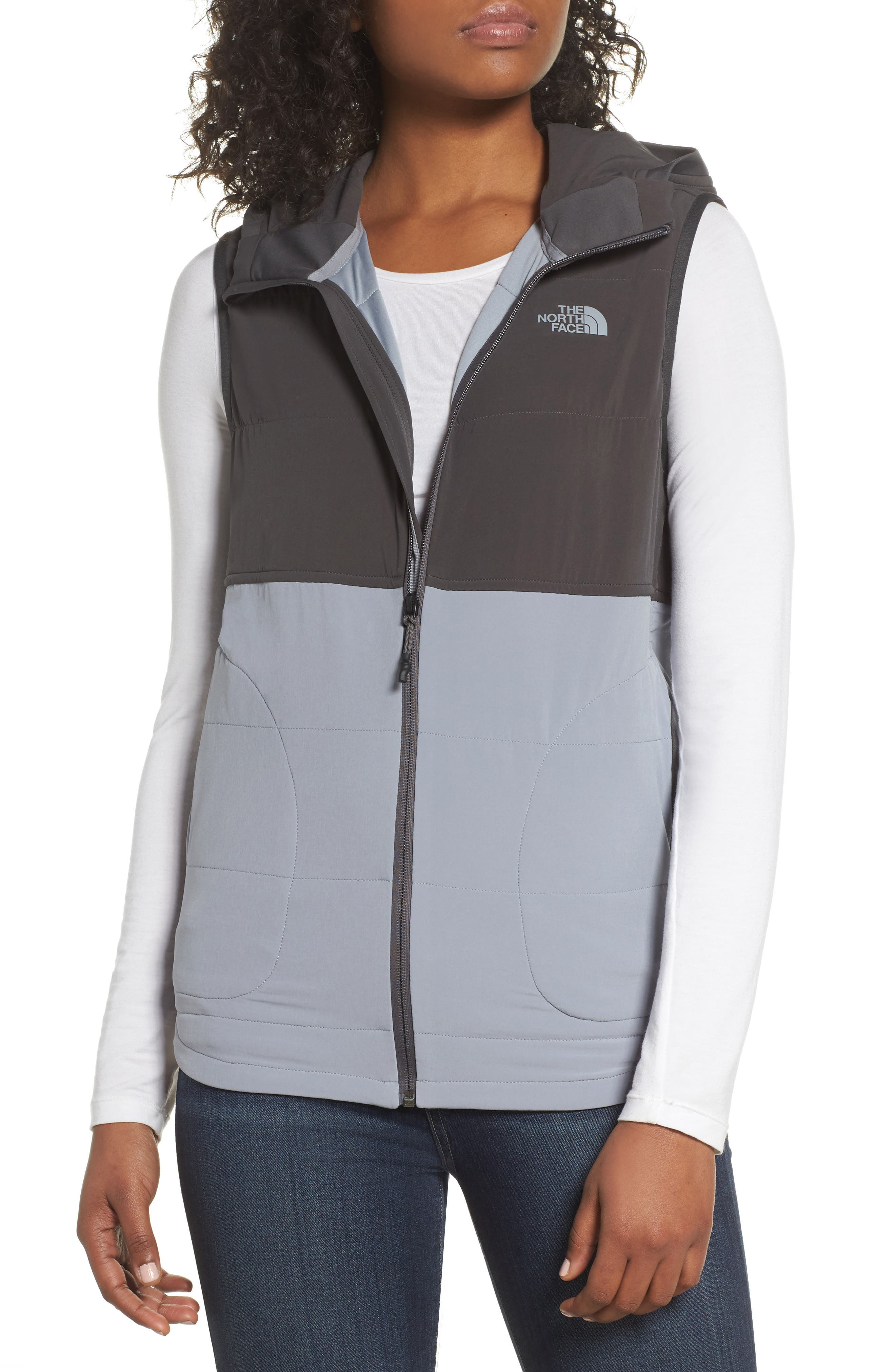Mountain Sweatshirt Insulated Hooded Vest,                             Main thumbnail 2, color,