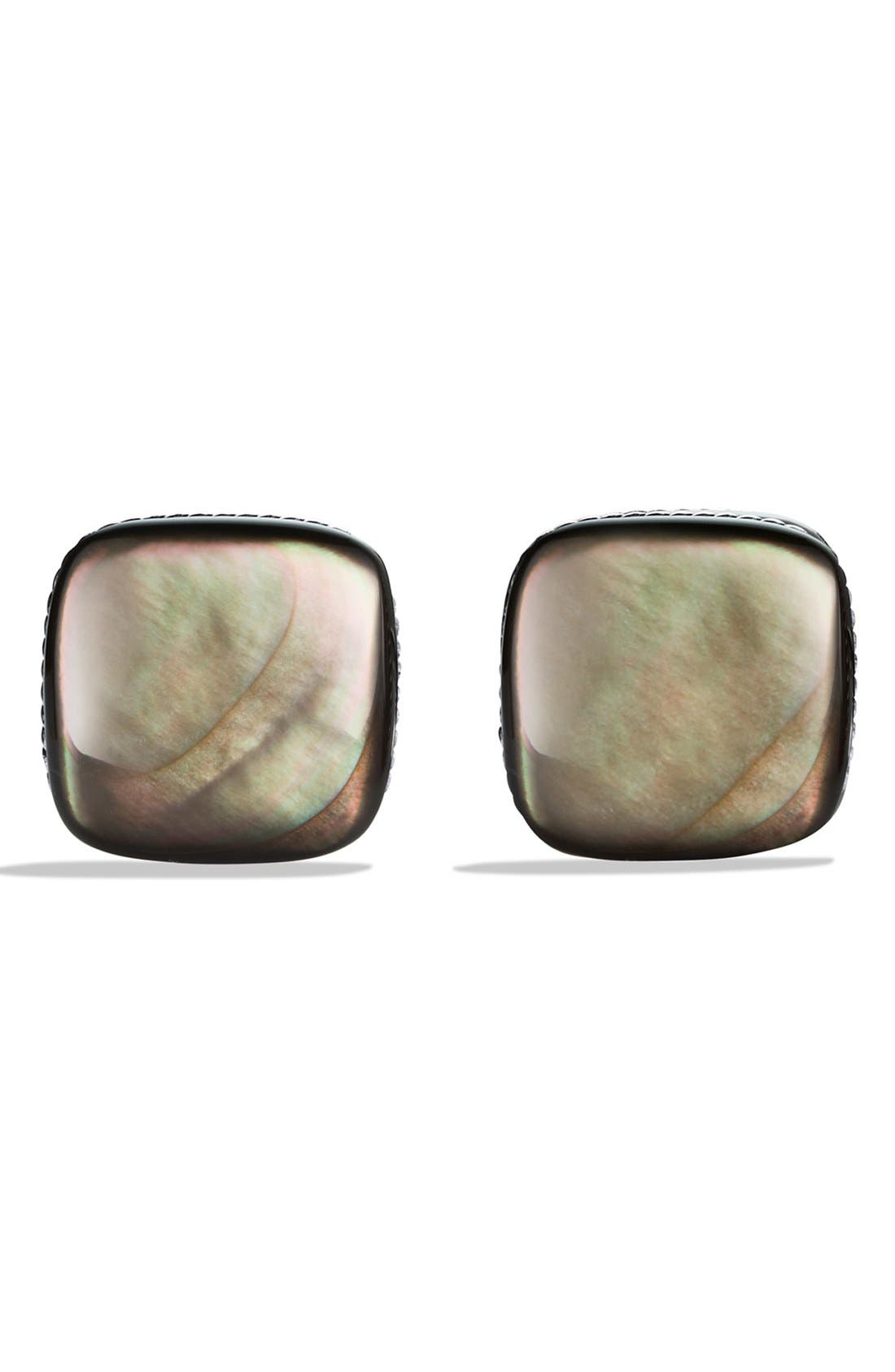 'Streamline' Cuff Links with Black Mother-of-Pearl,                             Alternate thumbnail 3, color,                             BLACK MOTHER OF PEARL