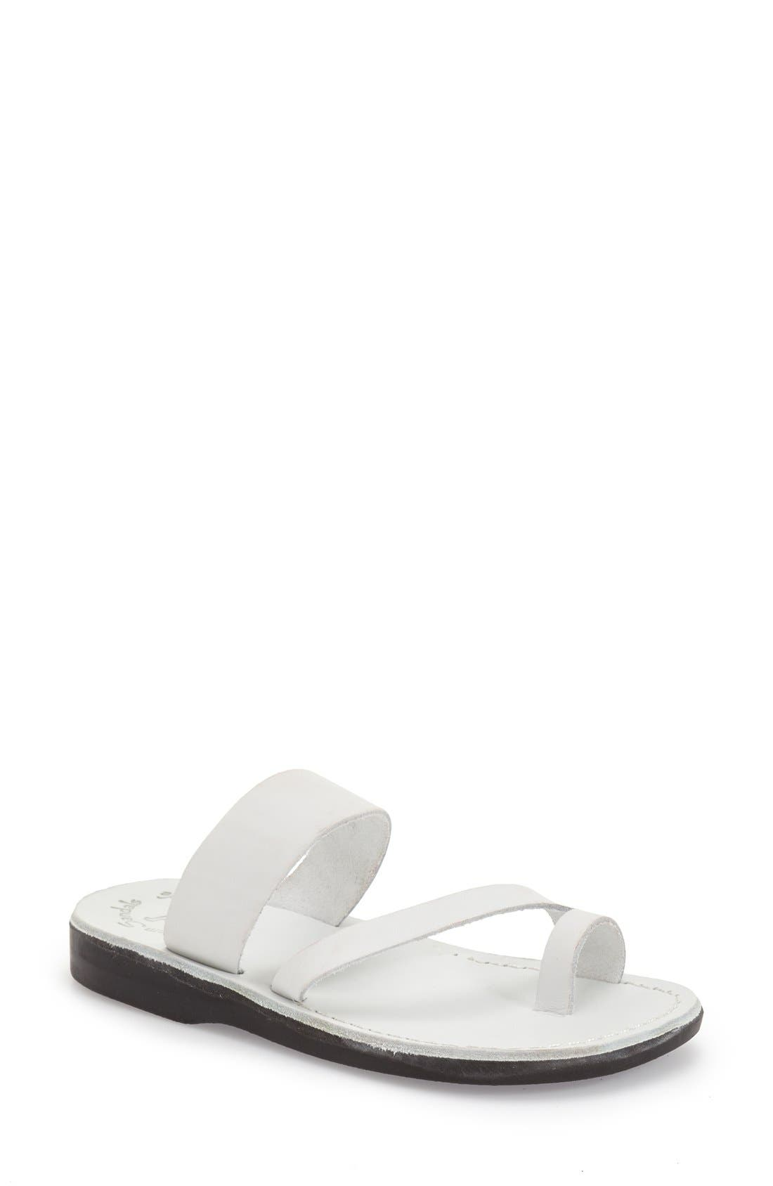 'Zohar' Leather Sandal,                             Main thumbnail 4, color,