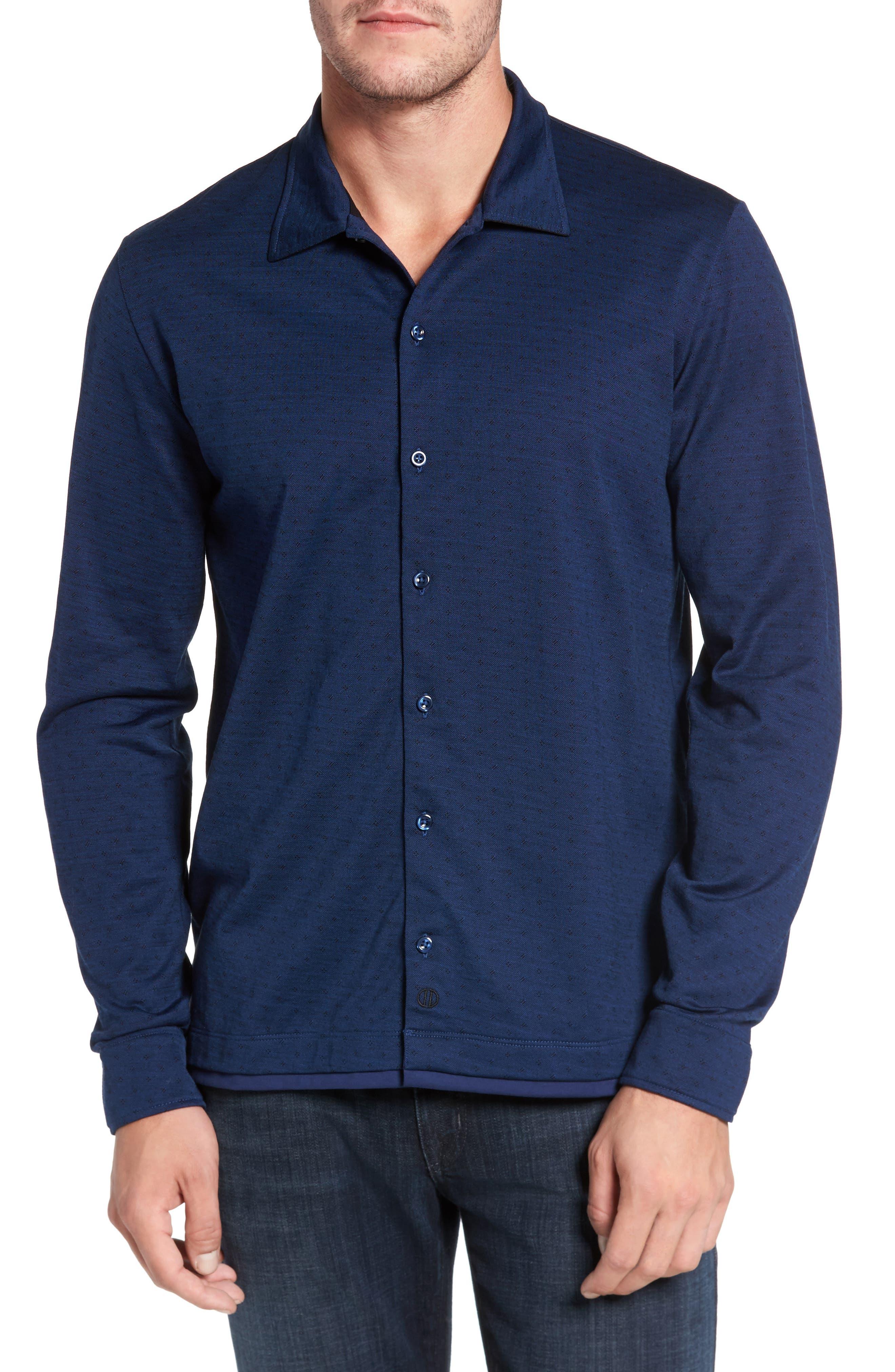 Jacquard Knit Sport Shirt,                             Main thumbnail 3, color,