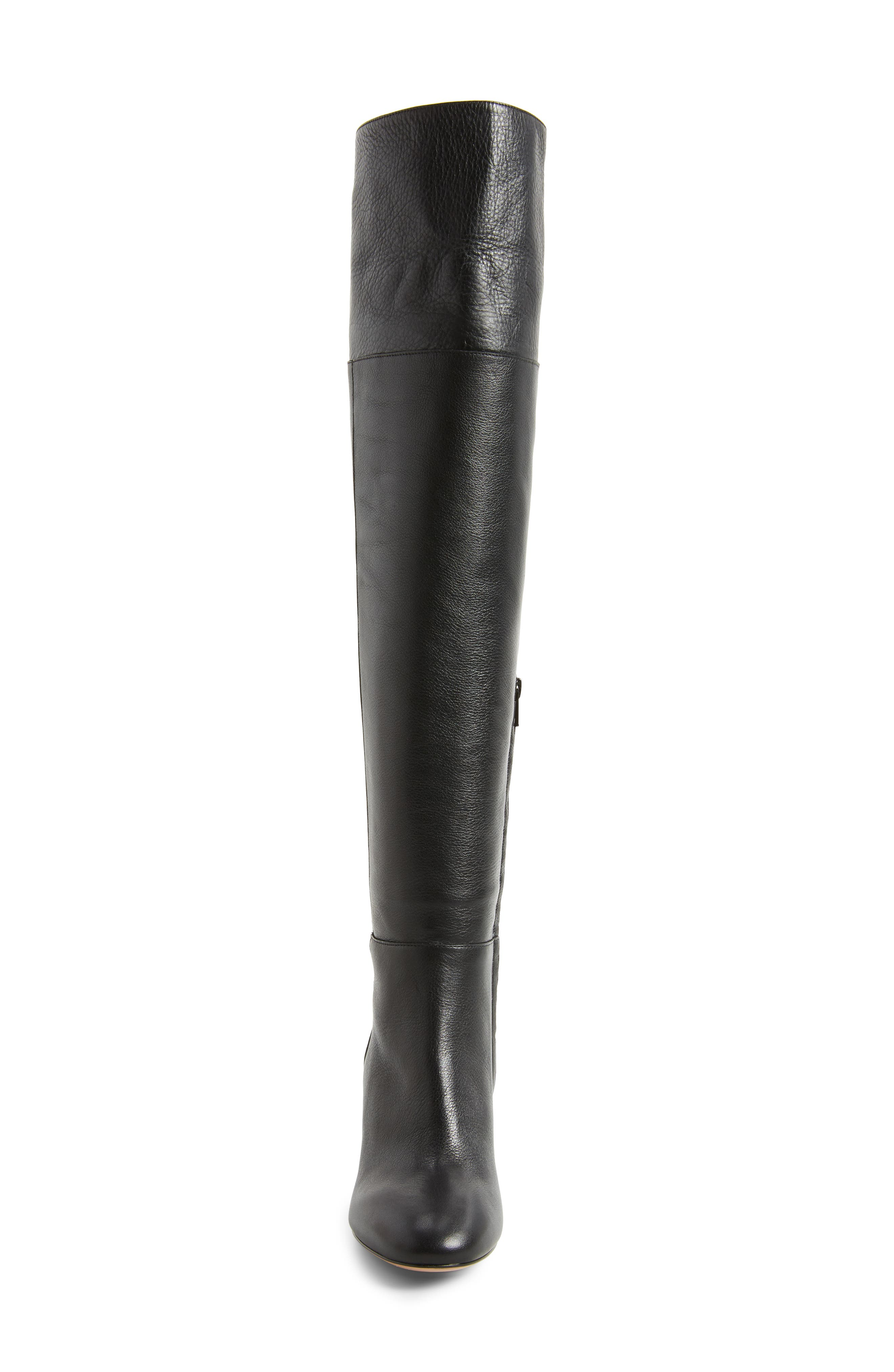 Renata Cuff Over the Knee Boot,                             Alternate thumbnail 4, color,                             001