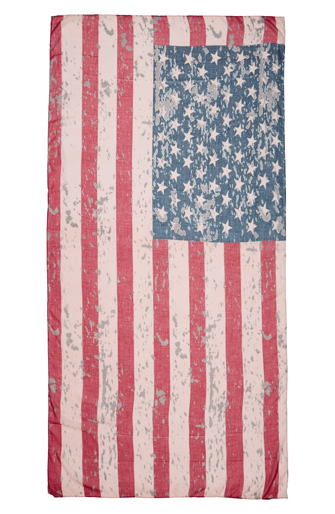 'American Flag' Oblong Scarf,                             Alternate thumbnail 2, color,                             600