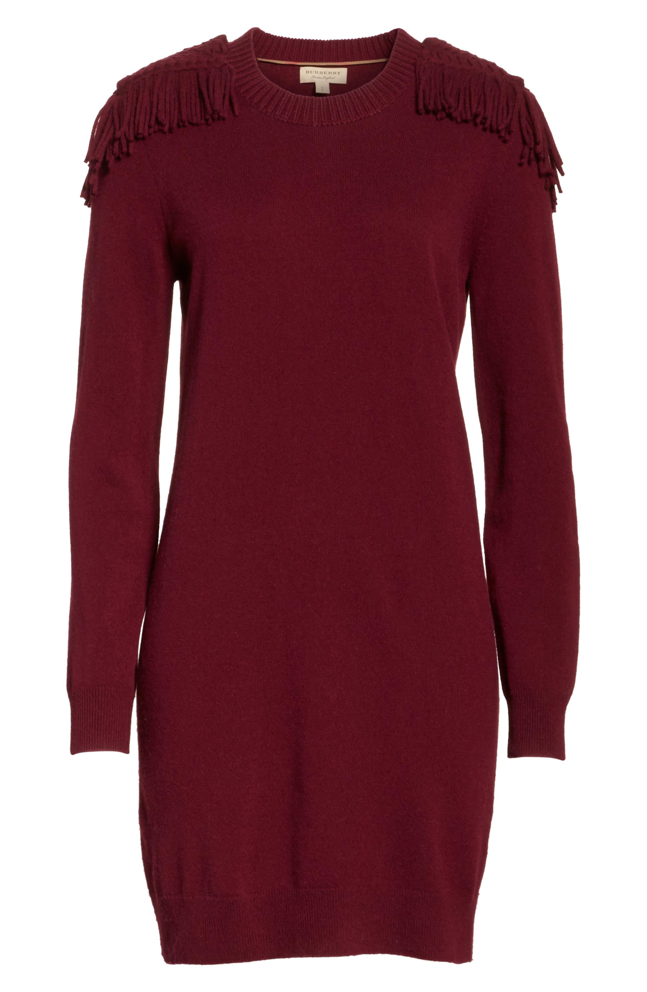Neto Wool & Cashmere Fringe Sweater Dress,                             Alternate thumbnail 6, color,                             601
