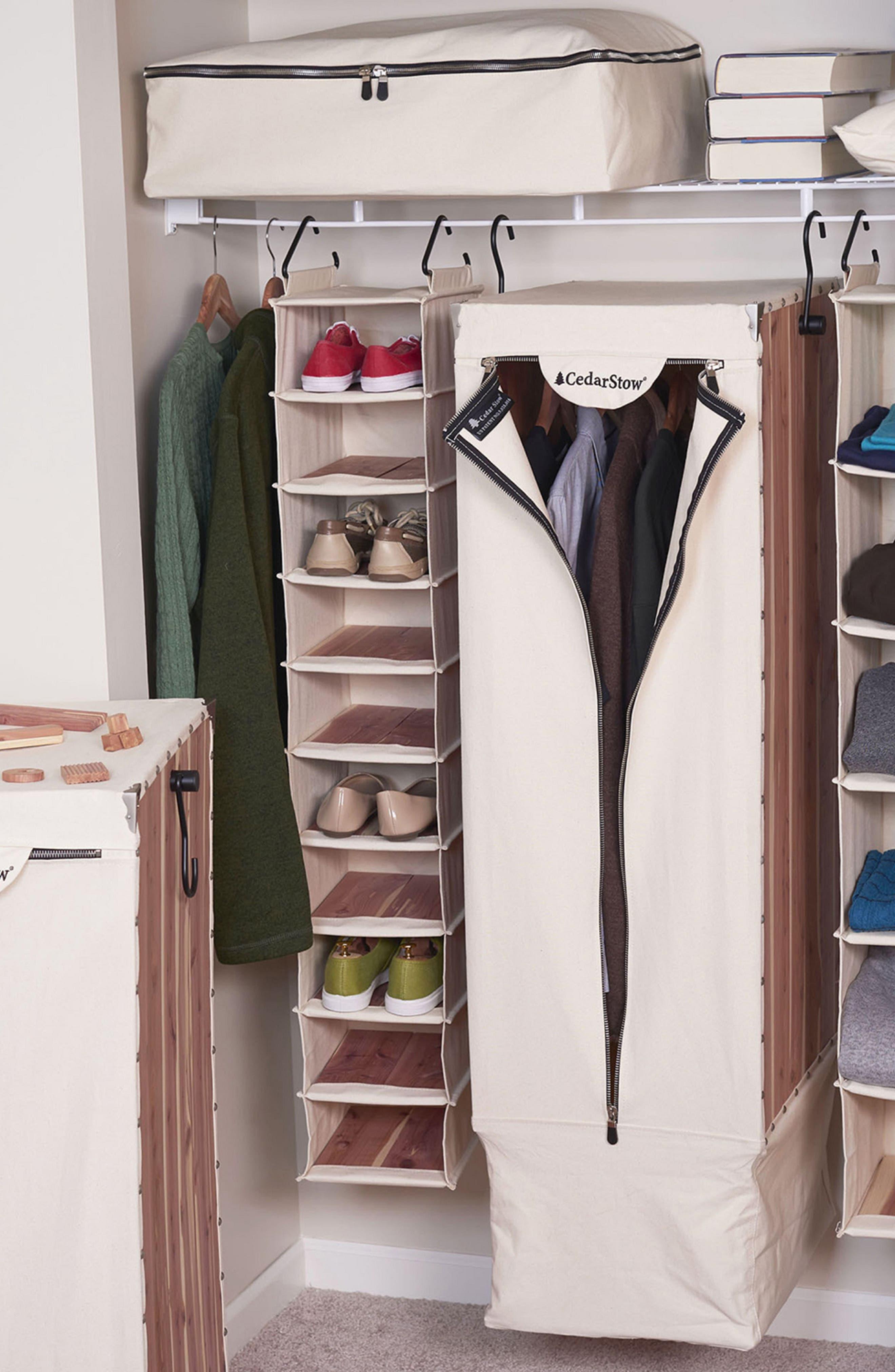 CedarStow Clothing Wardrobe,                             Alternate thumbnail 4, color,                             BEIGE AND CEDAR