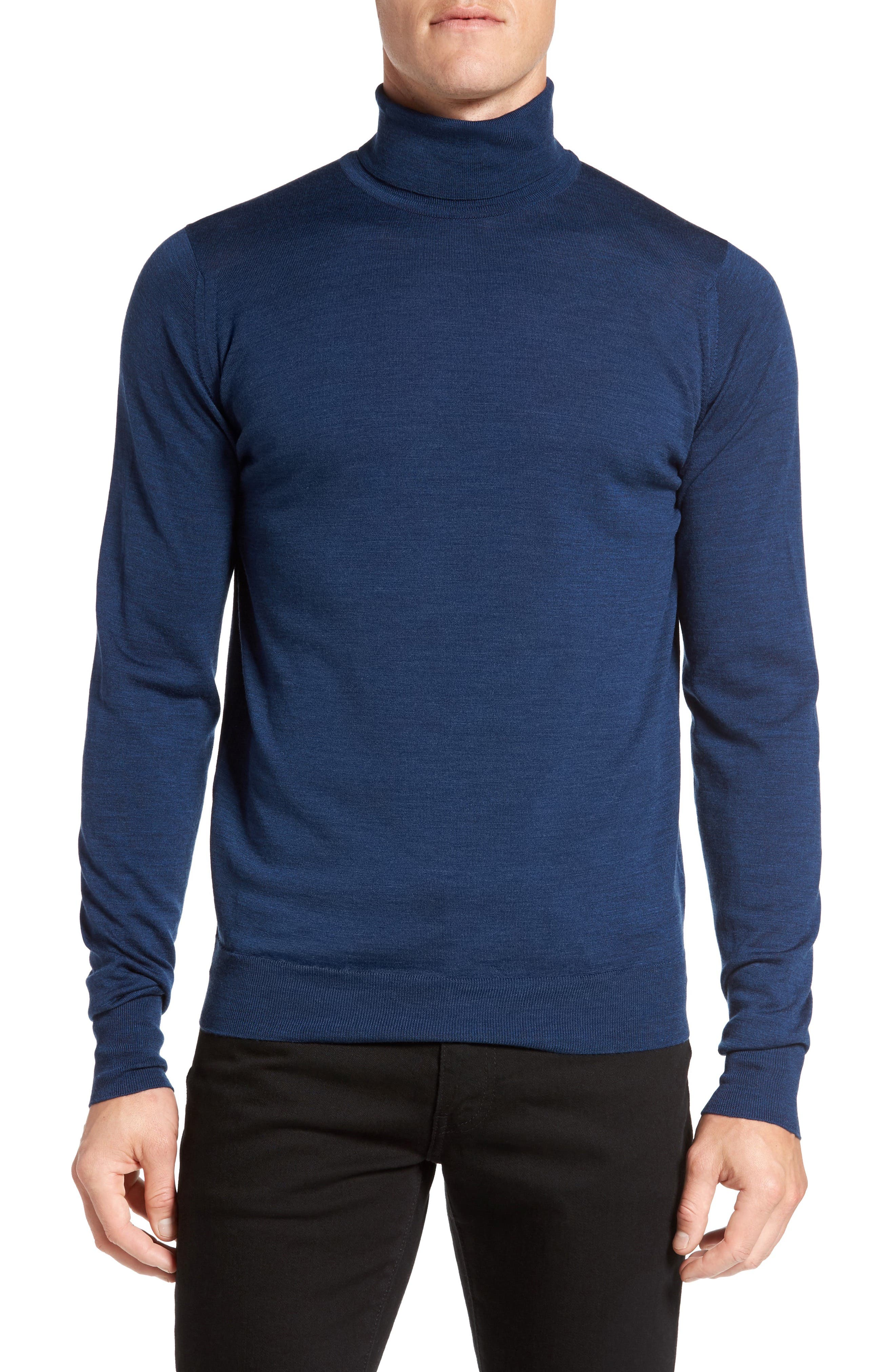 'Richards' Easy Fit Turtleneck Wool Sweater,                             Alternate thumbnail 40, color,