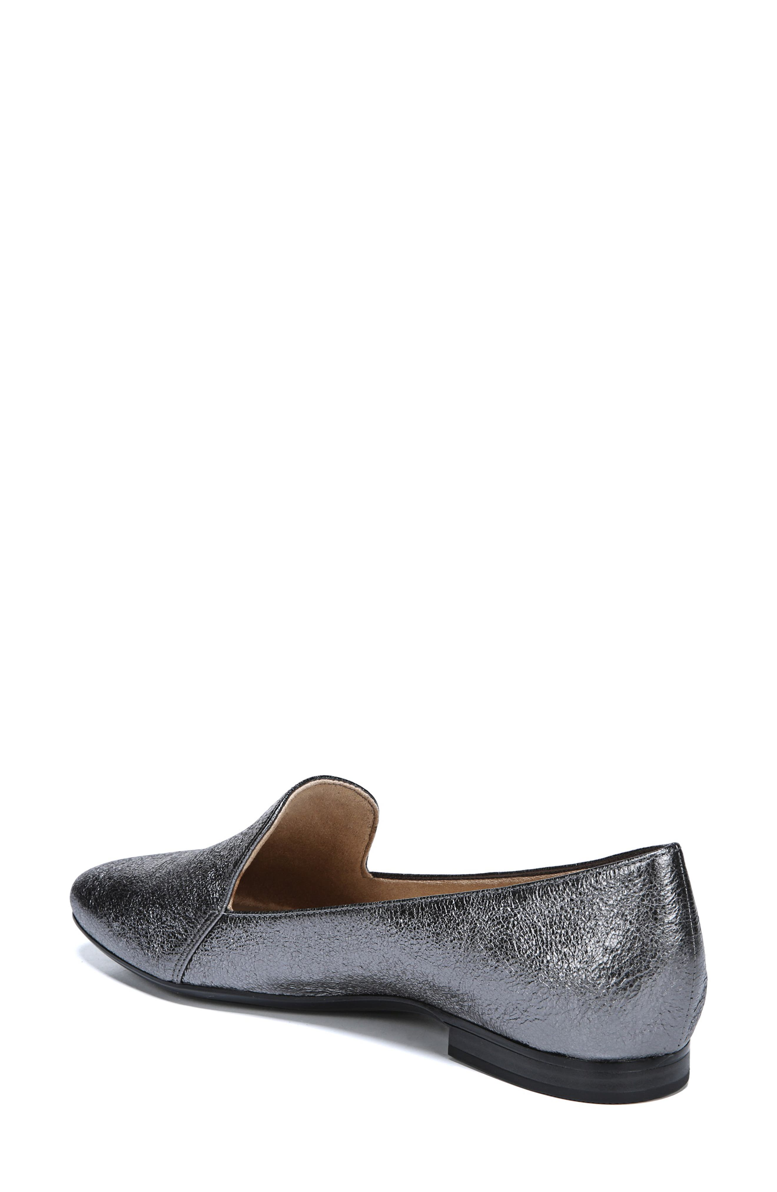 Emiline Flat Loafer,                             Alternate thumbnail 2, color,                             PEWTER LEATHER