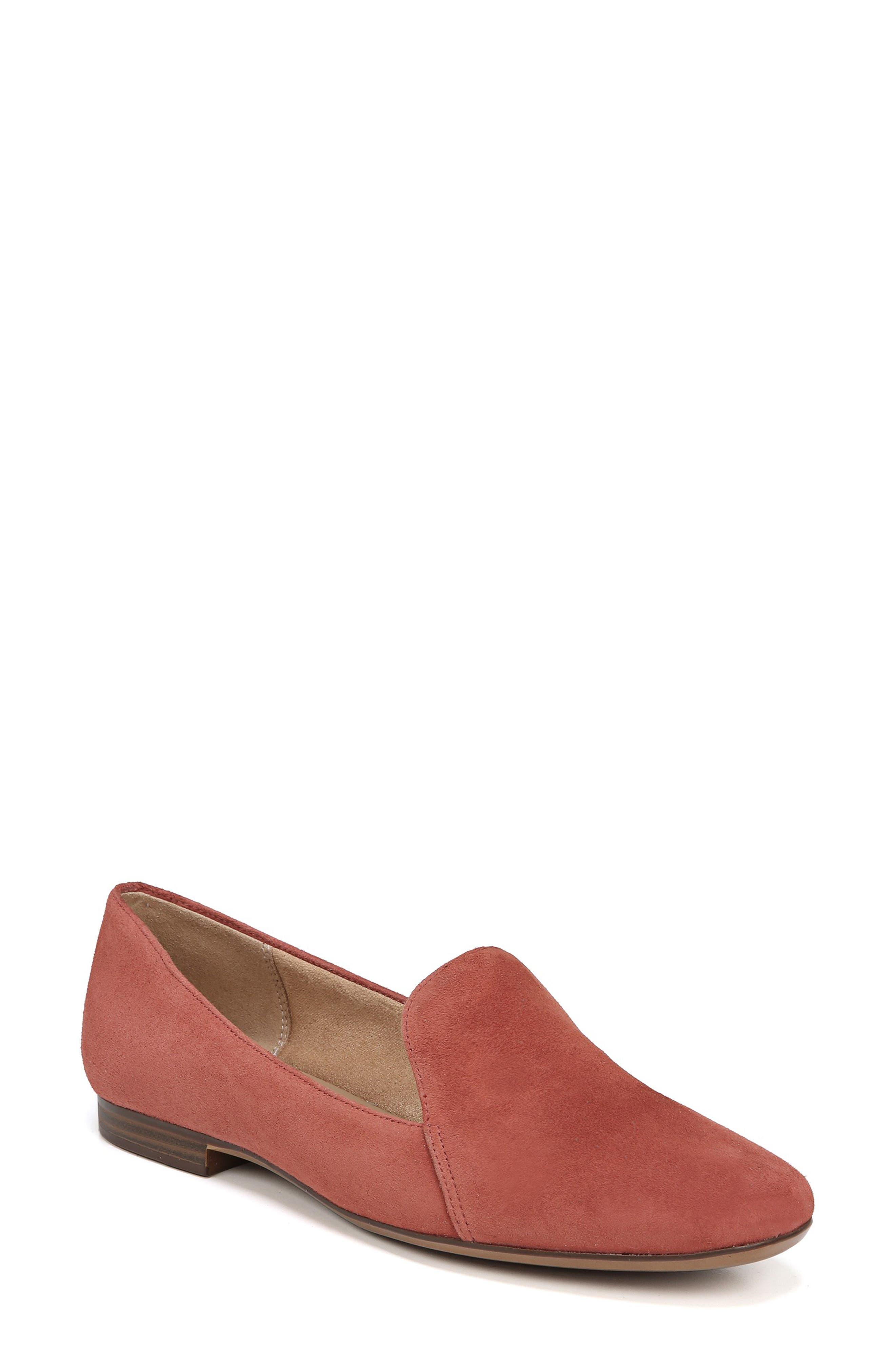Emiline Flat Loafer,                         Main,                         color, DESERT CLAY SUEDE