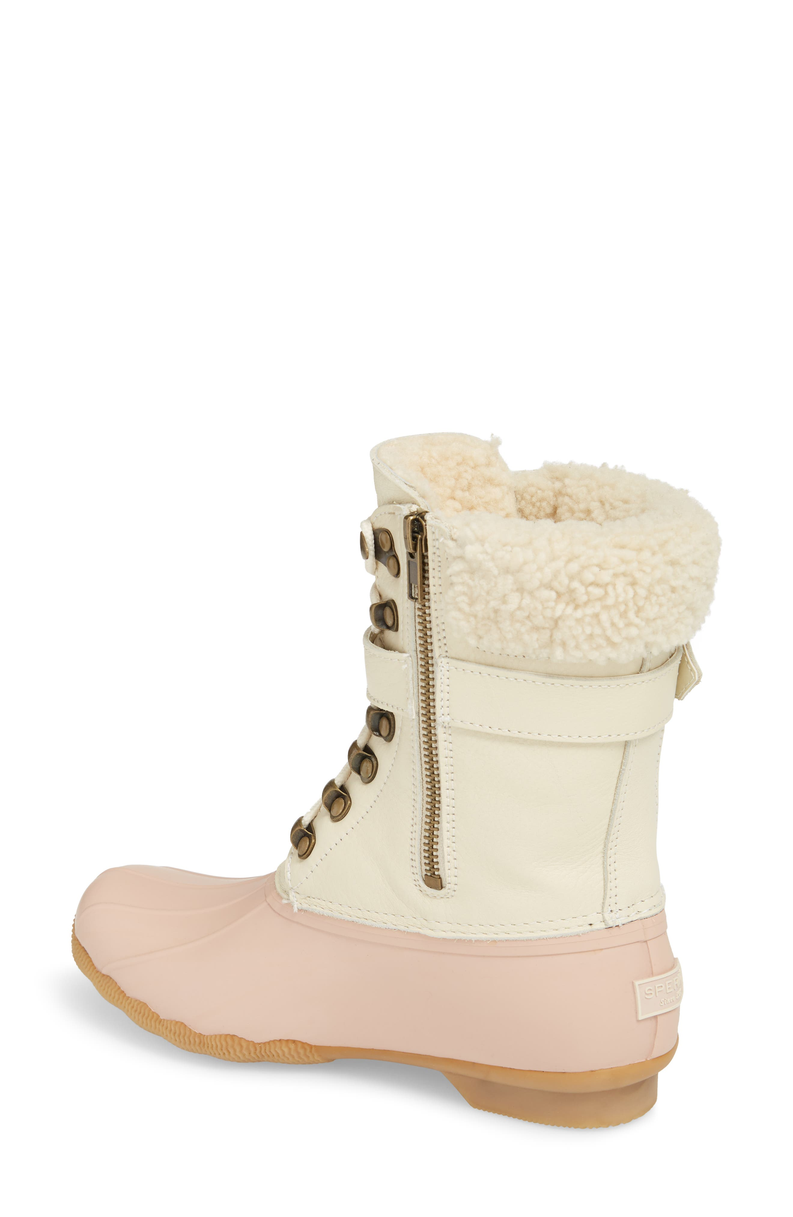 Shearwater Water-Resistant Genuine Shearling Lined Boot,                             Alternate thumbnail 8, color,