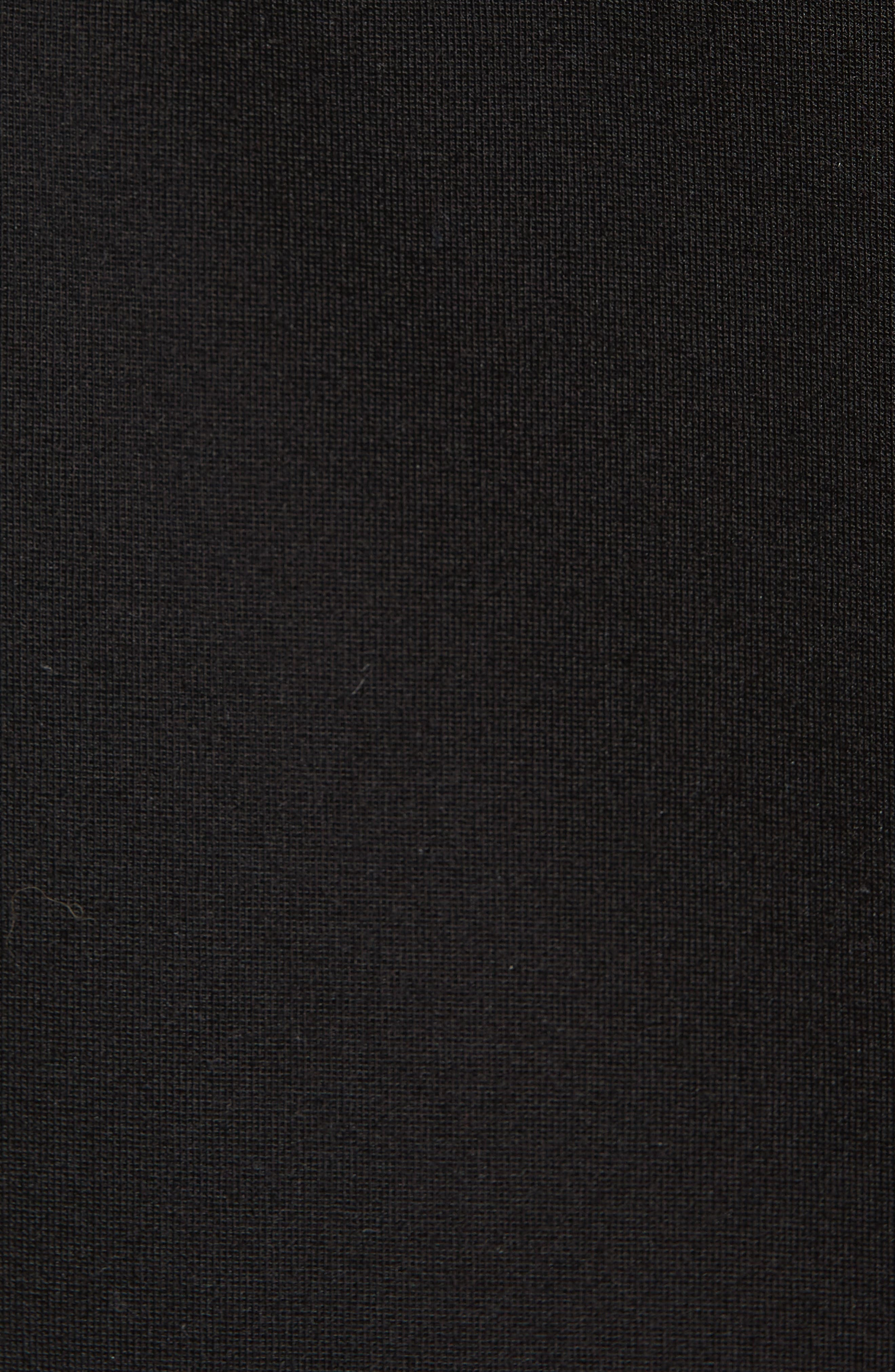 Ponte Knit Pencil Skirt,                             Alternate thumbnail 5, color,                             001