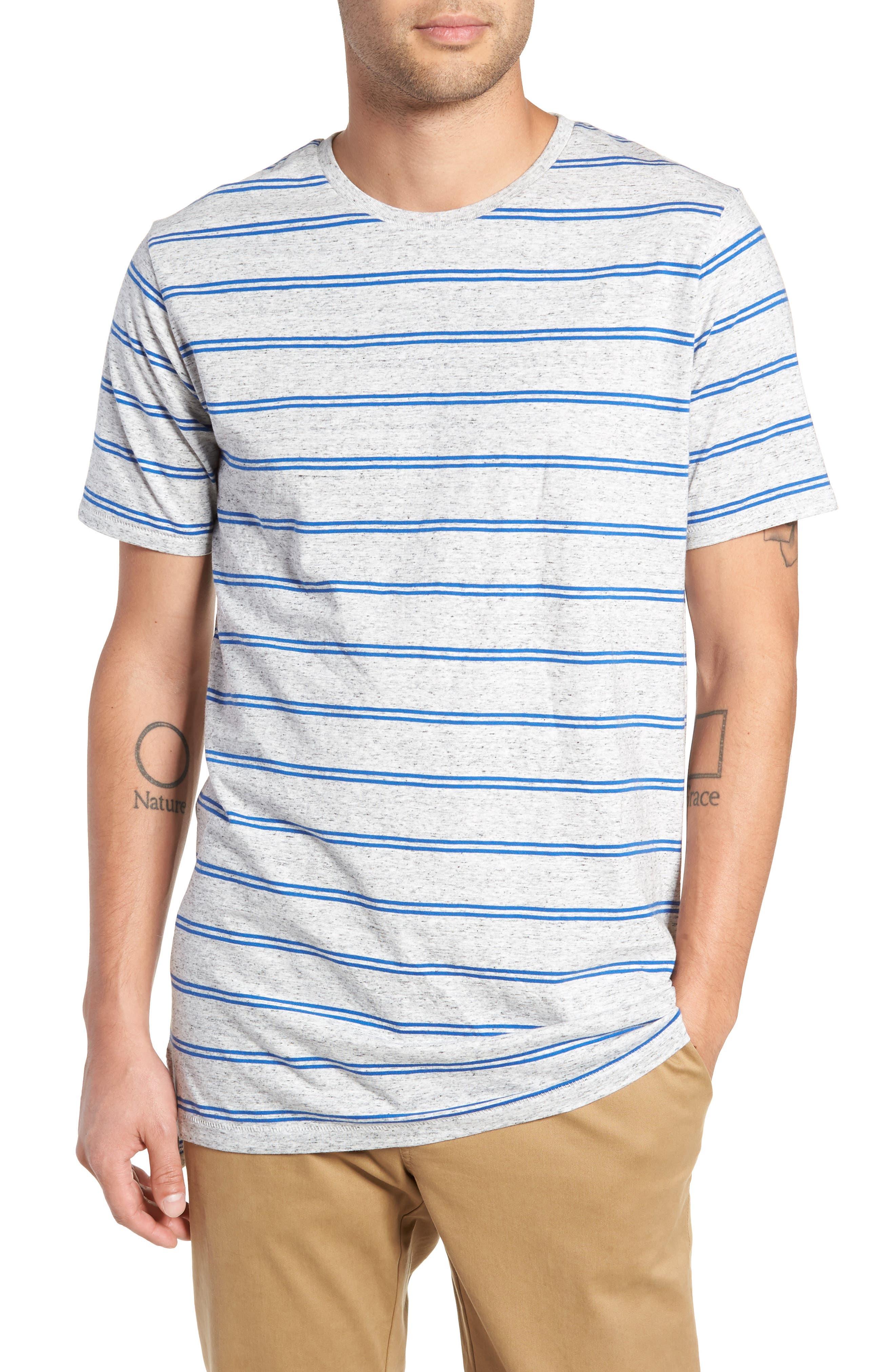 Flintlock T-Shirt,                         Main,                         color, STORM MARLE/ COBALT