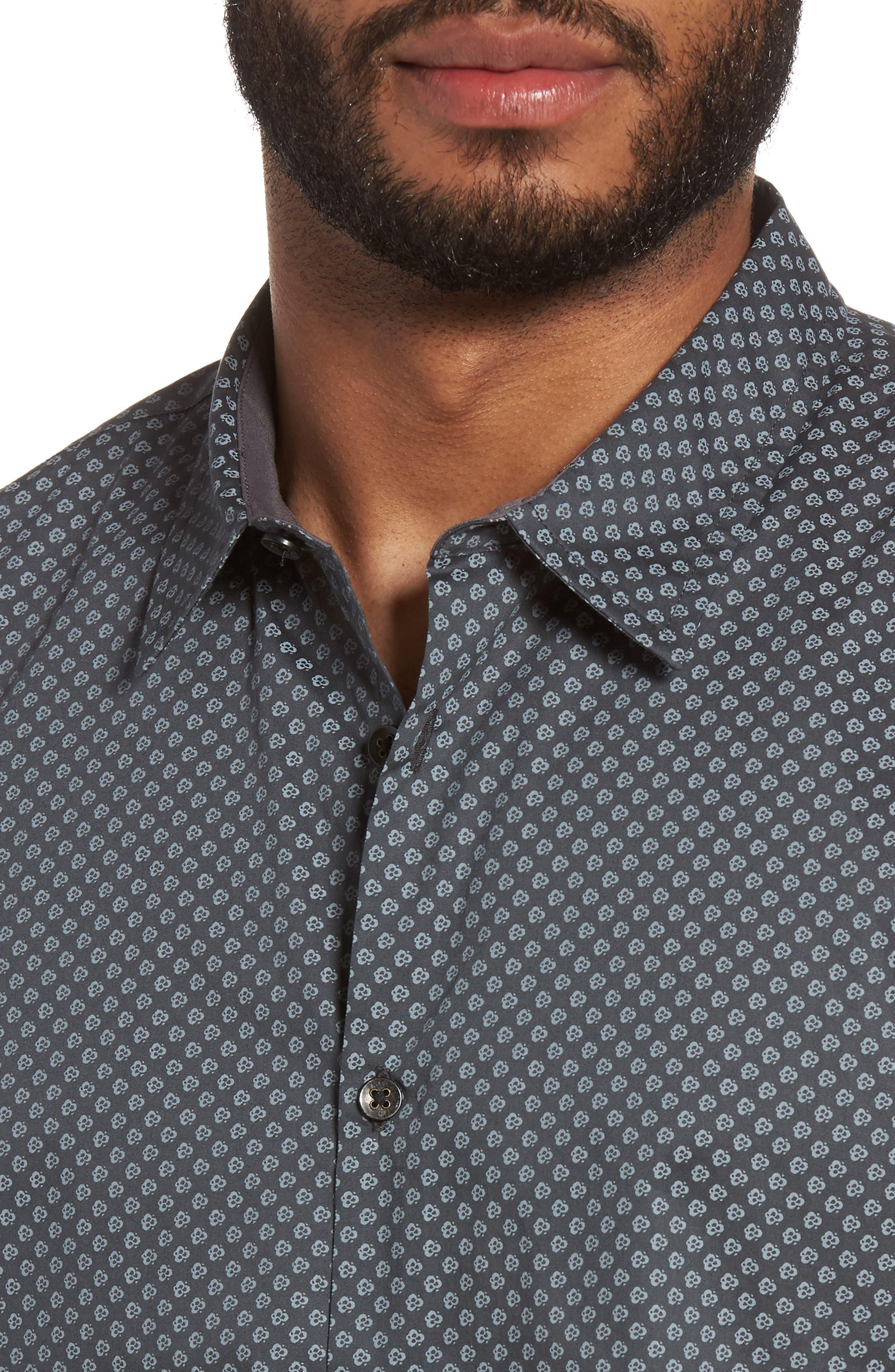 Trim Fit Print Sport Shirt,                             Alternate thumbnail 4, color,                             065