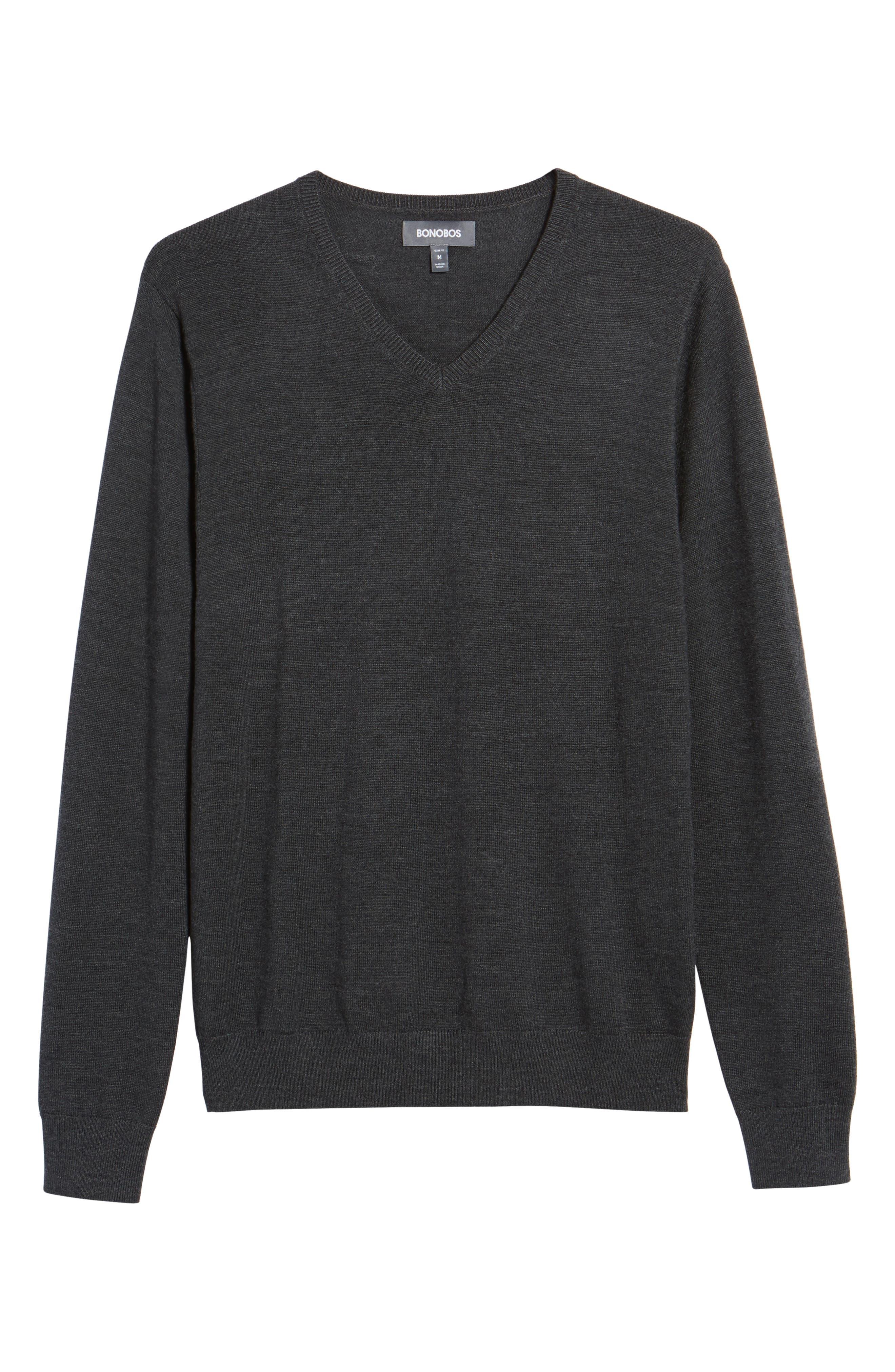 Merino V-Neck Sweater,                             Alternate thumbnail 6, color,                             020