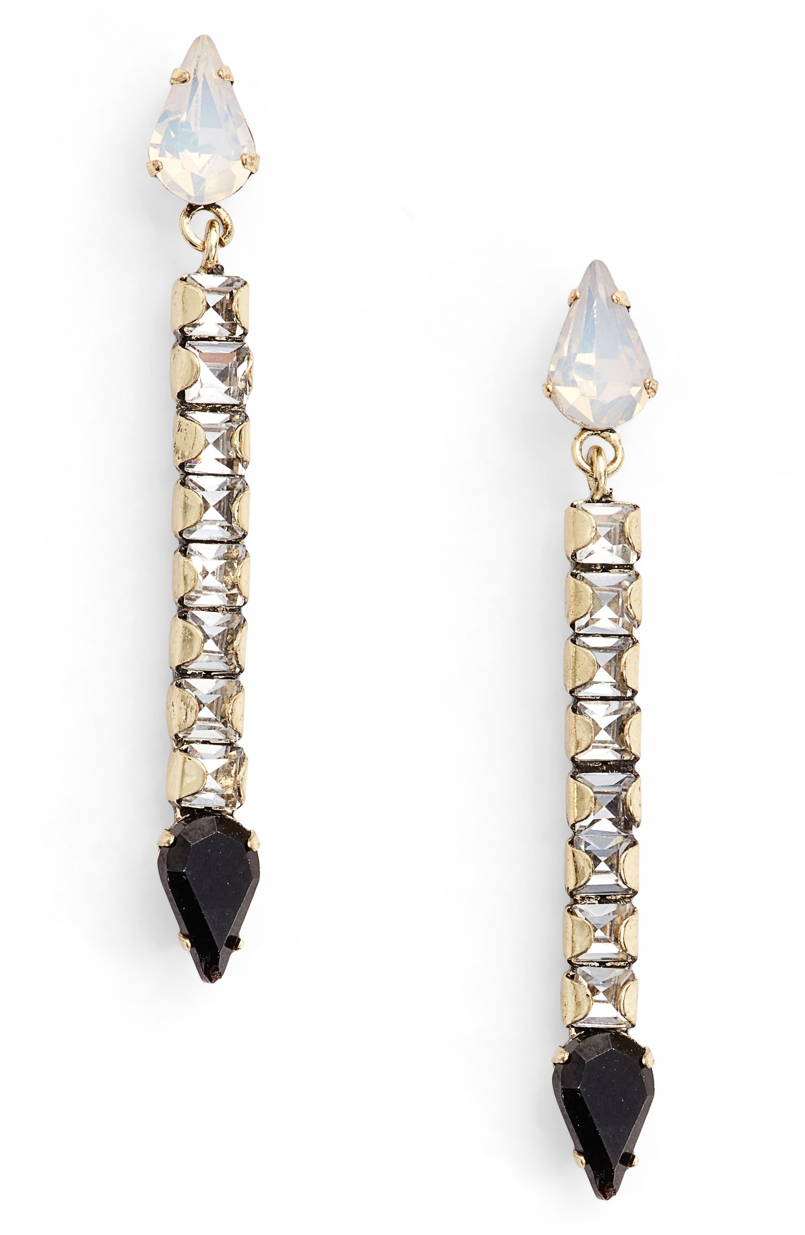 Clara Crystal Drop Earrings,                             Main thumbnail 1, color,                             710