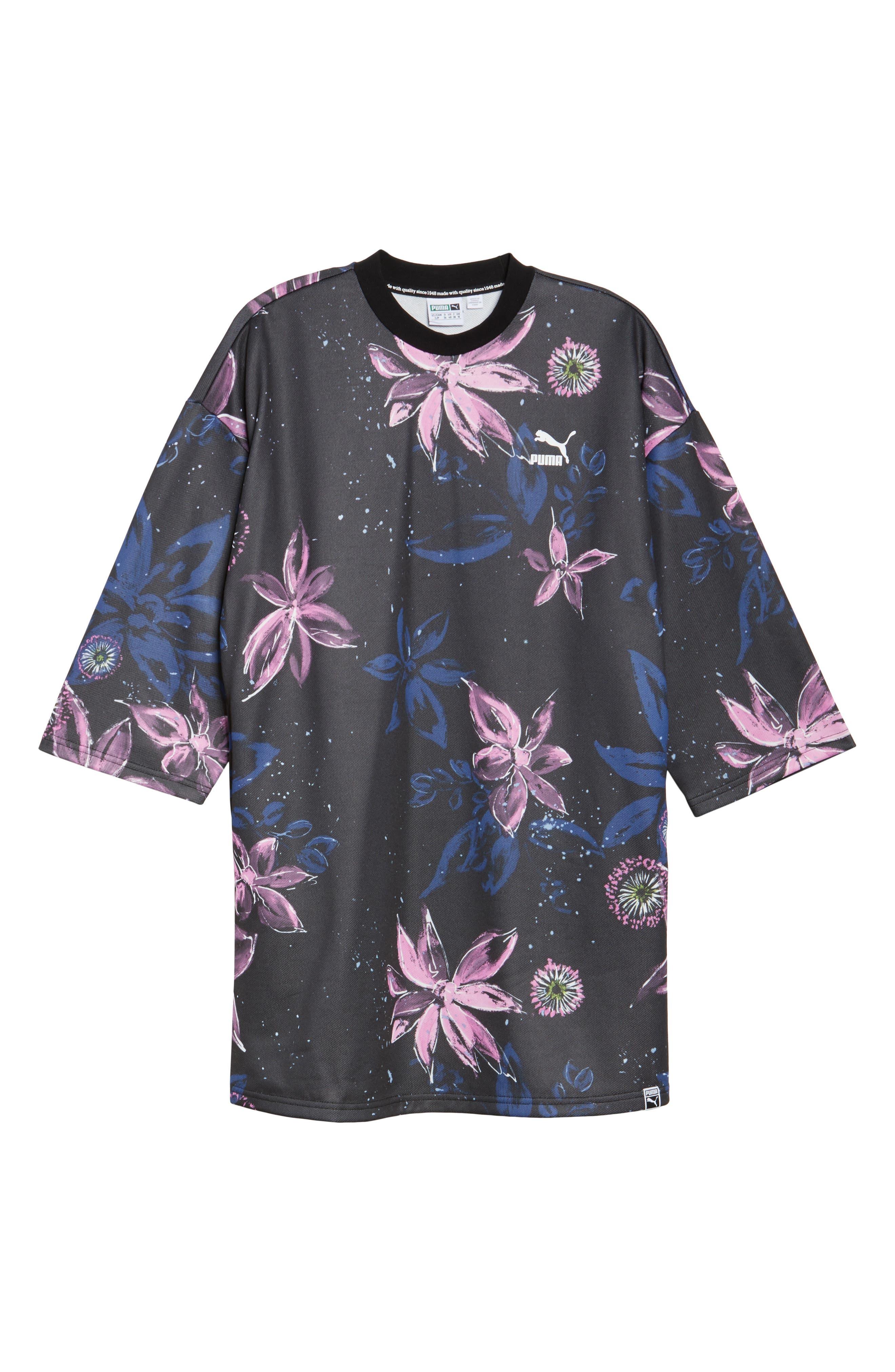 Archive No. 1 Logo T-Shirt Dress,                             Alternate thumbnail 7, color,                             001