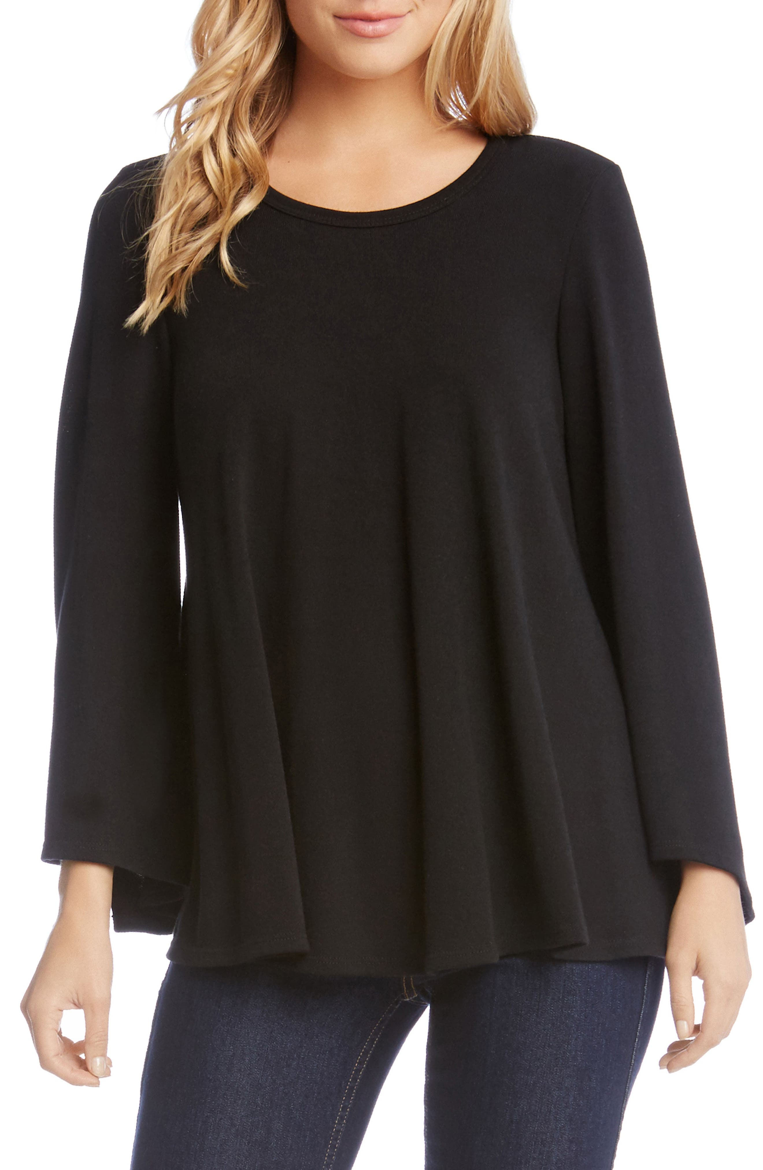 Bell Sleeve Swing Sweater,                         Main,                         color, 001