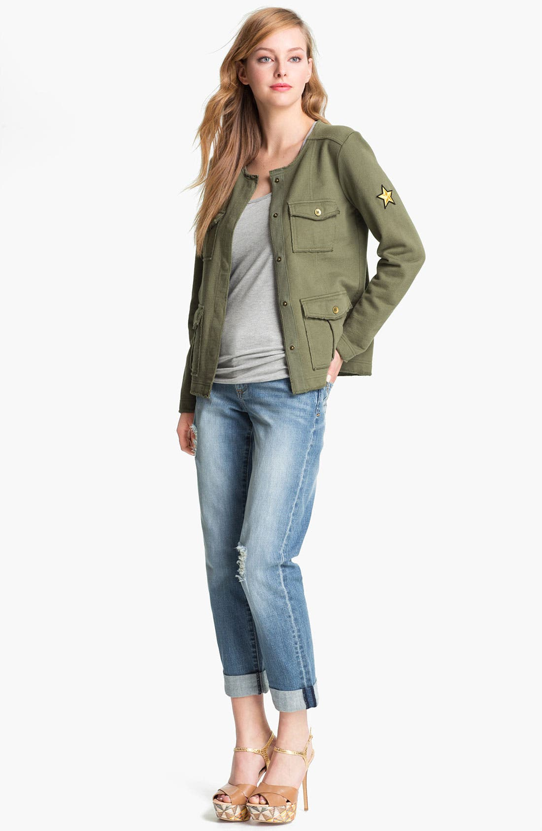 KUT FROM THE KLOTH,                             'Catherine' Distressed Slim Boyfriend Jeans,                             Alternate thumbnail 6, color,                             400