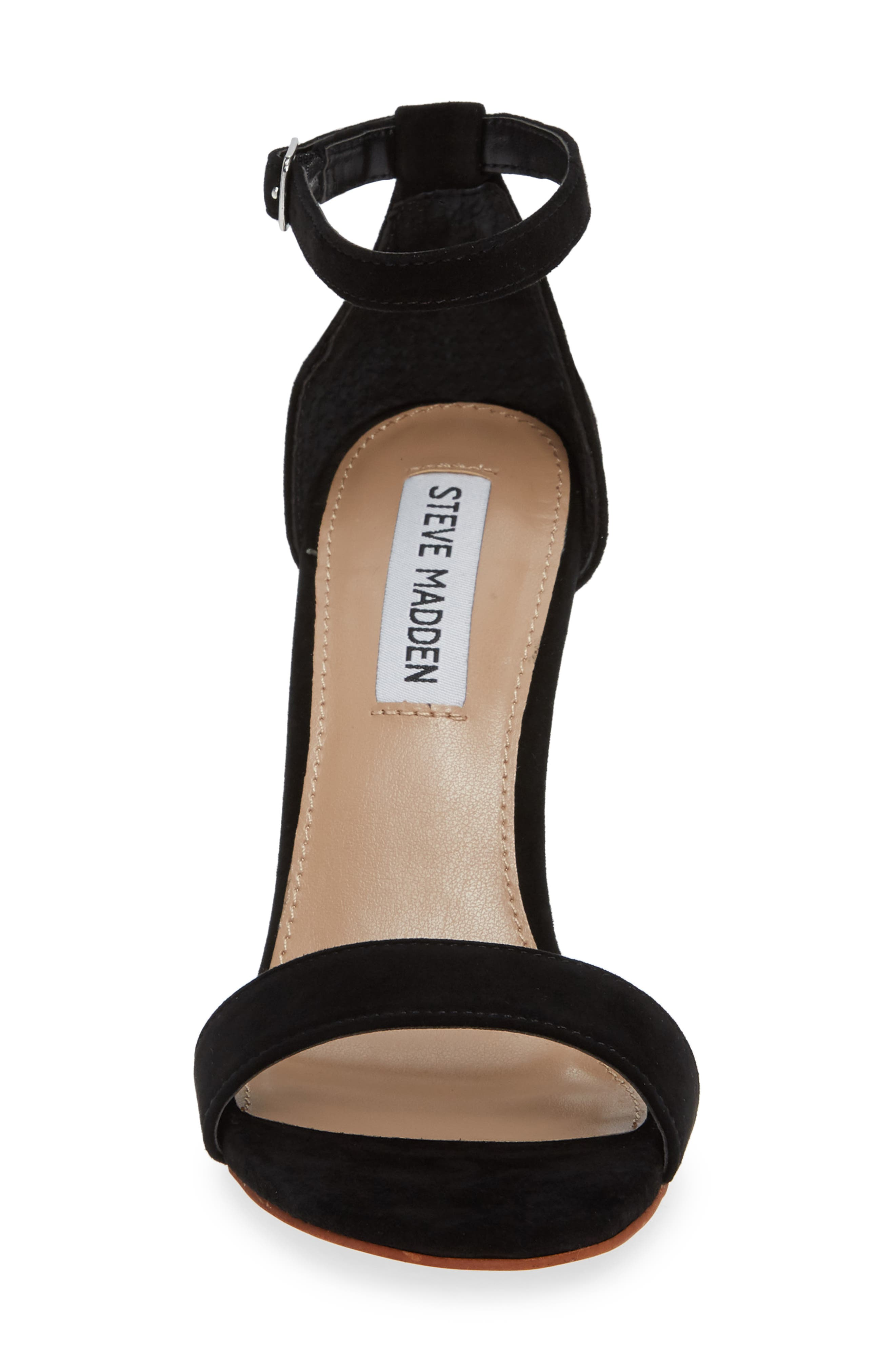 Mary Ankle Strap Wedge,                             Alternate thumbnail 4, color,                             BLACK SUEDE