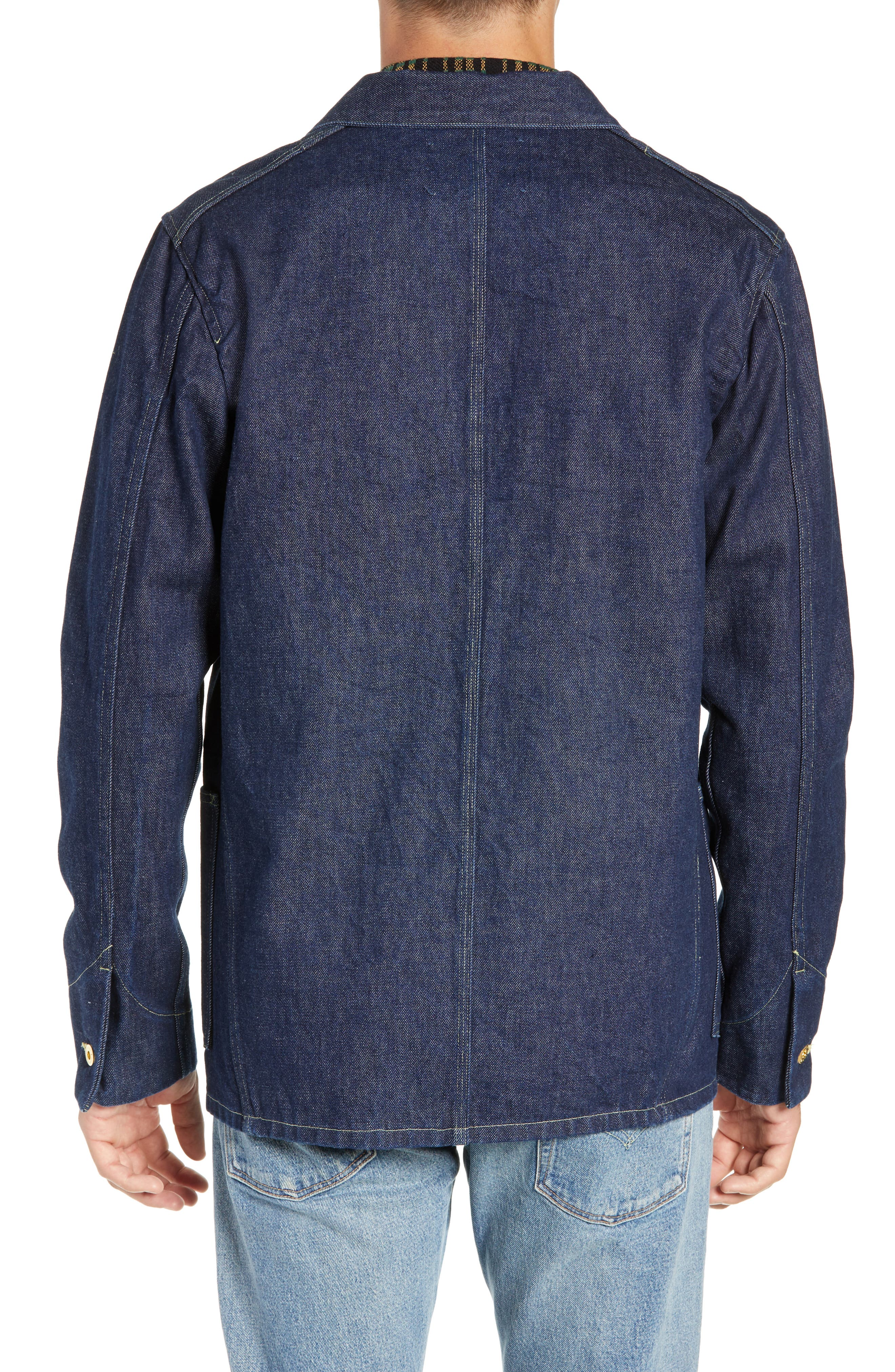 LEVI'S<SUP>®</SUP> MADE & CRAFTED<SUP>™</SUP>,                             Sat Denim Shirt Jacket,                             Alternate thumbnail 2, color,                             RINSE