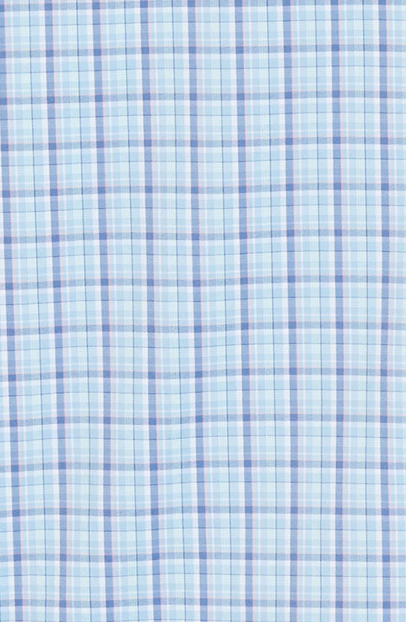 Staycation Intercoastal Regular Fit Plaid Performance Sport Shirt,                             Alternate thumbnail 6, color,                             SKY BLUE