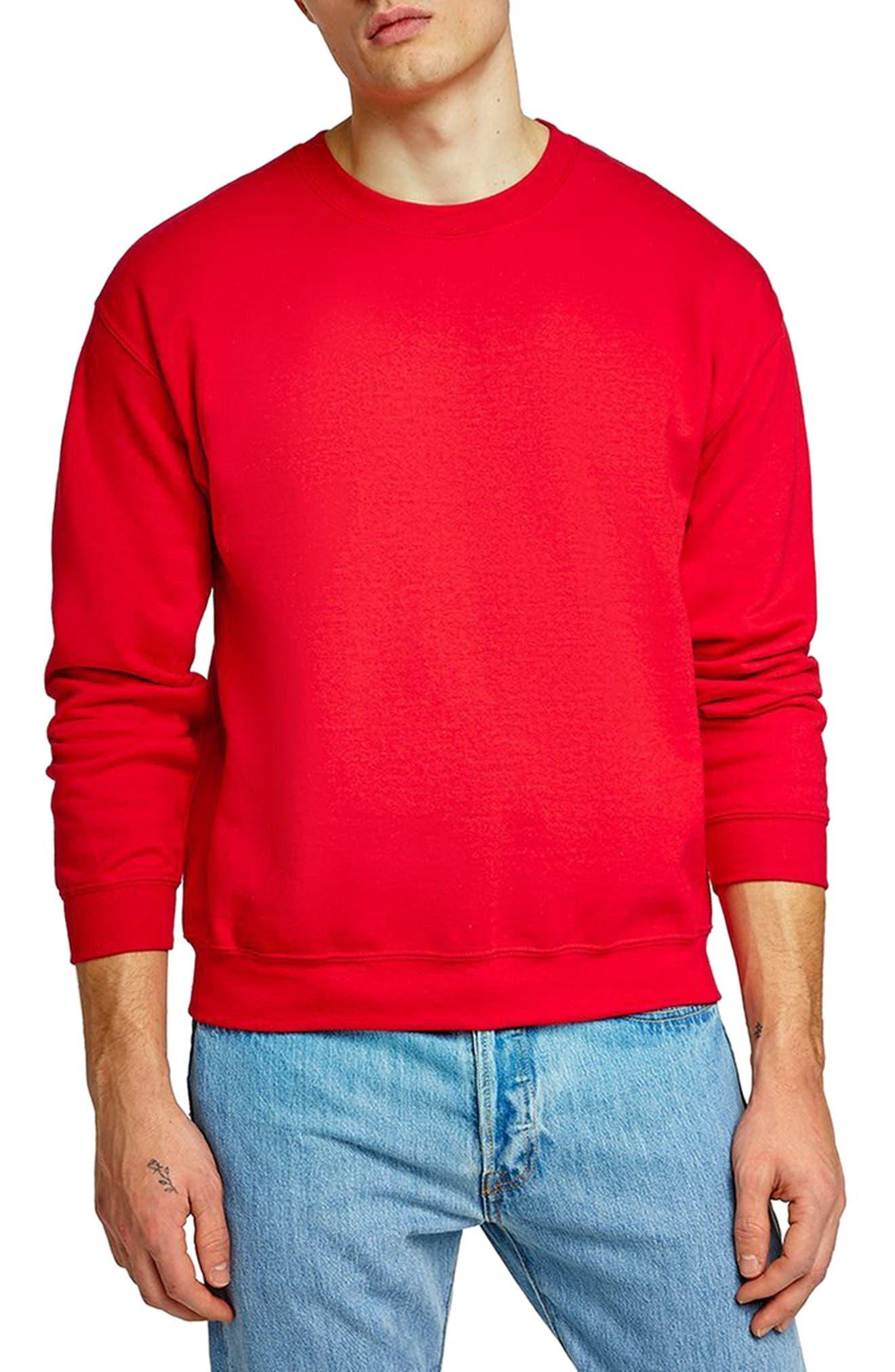Oversize Crewneck Sweatshirt,                             Main thumbnail 1, color,