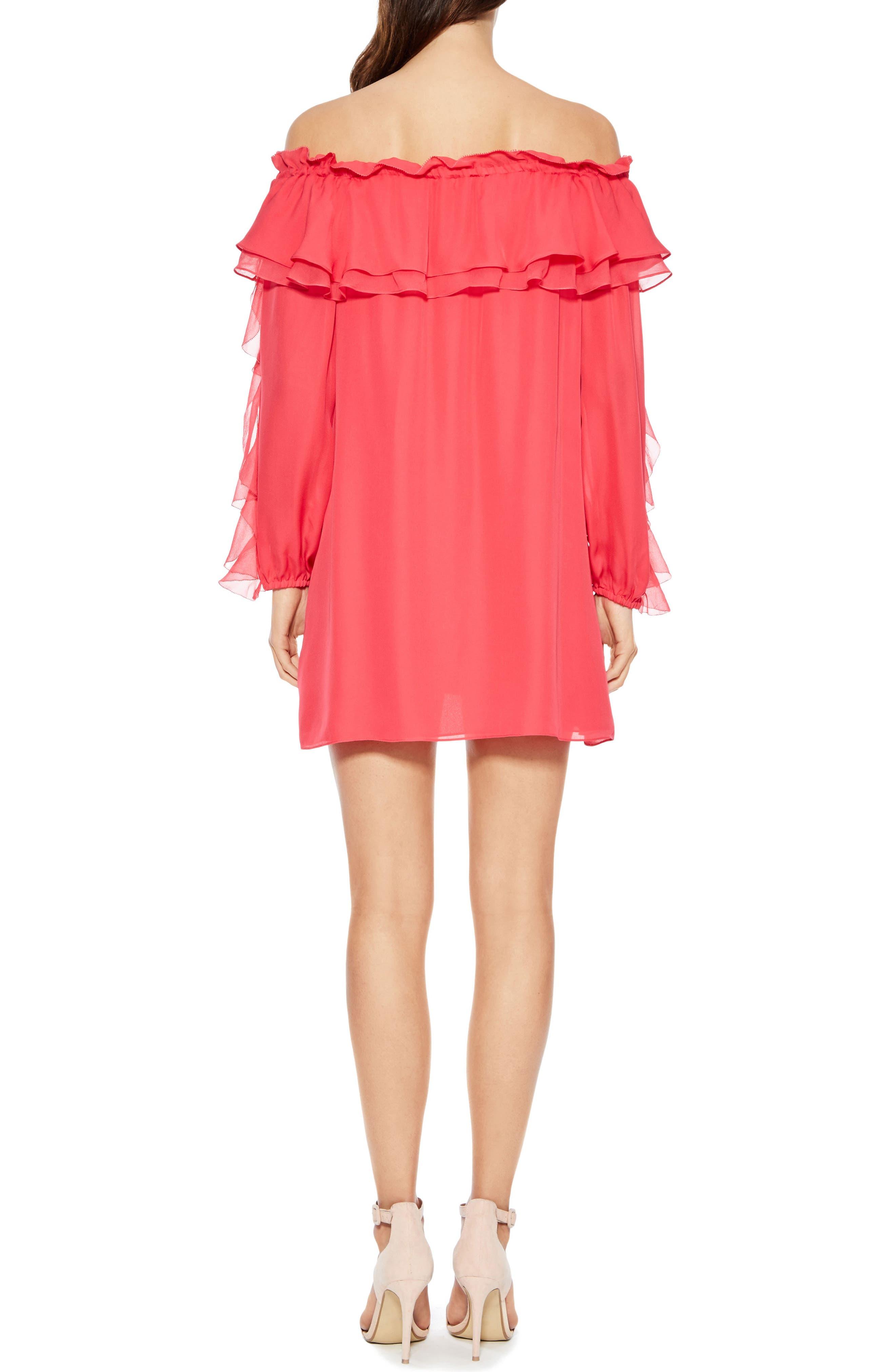 Isa Combo Silk Dress,                             Alternate thumbnail 2, color,                             PRISM PINK