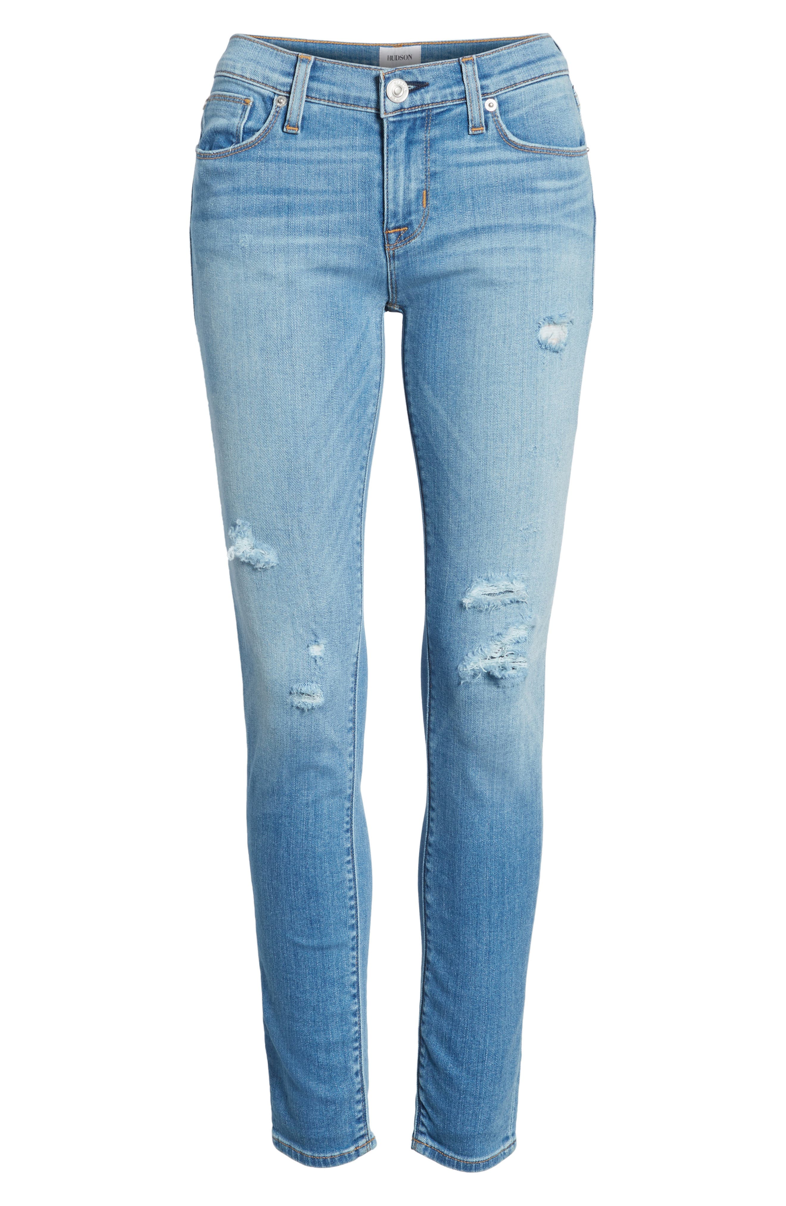 Krista Ankle Super Skinny Jeans,                             Alternate thumbnail 7, color,                             420