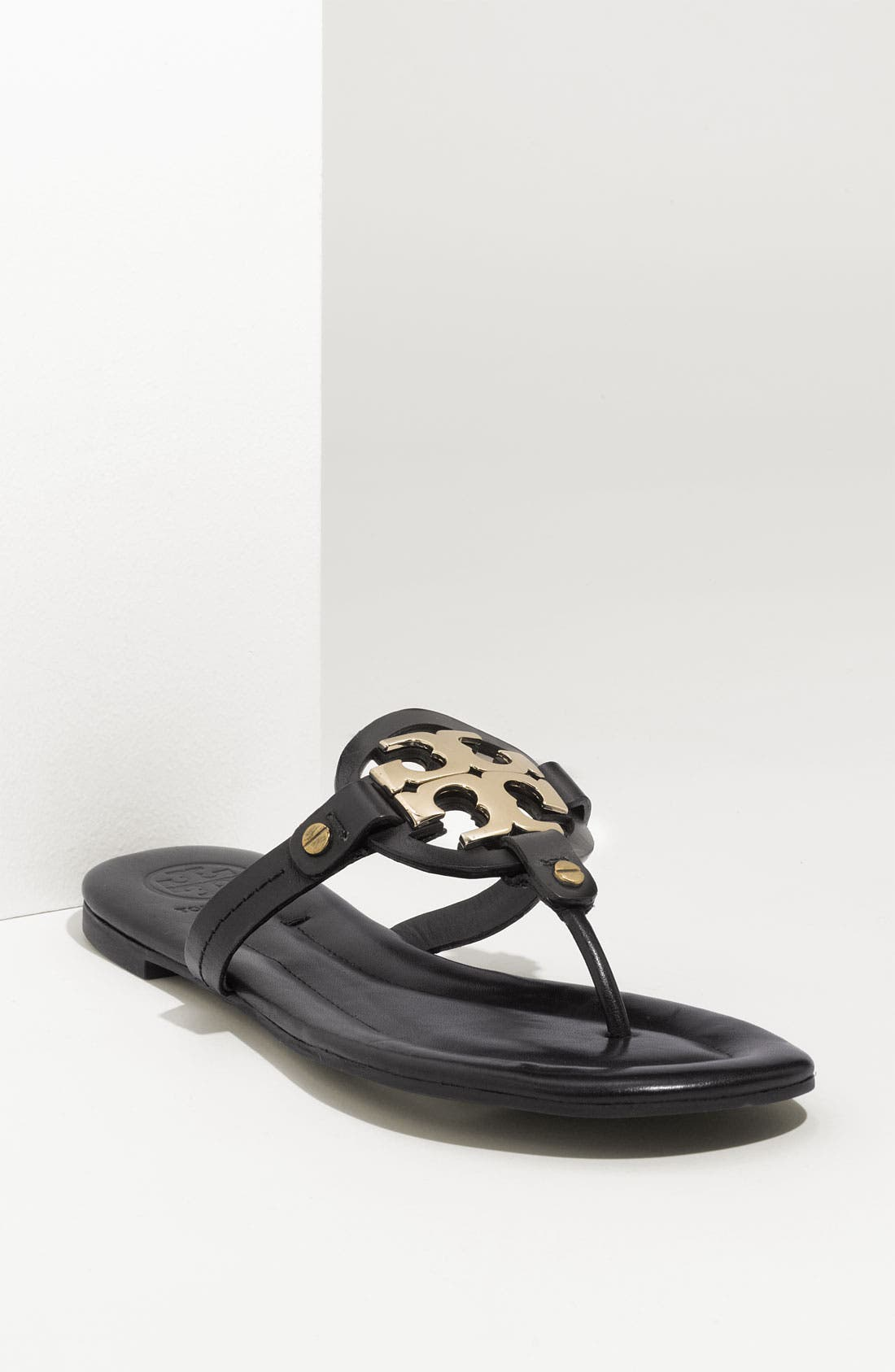 TORY BURCH 'Miller 2' Logo Sandal, Main, color, 001